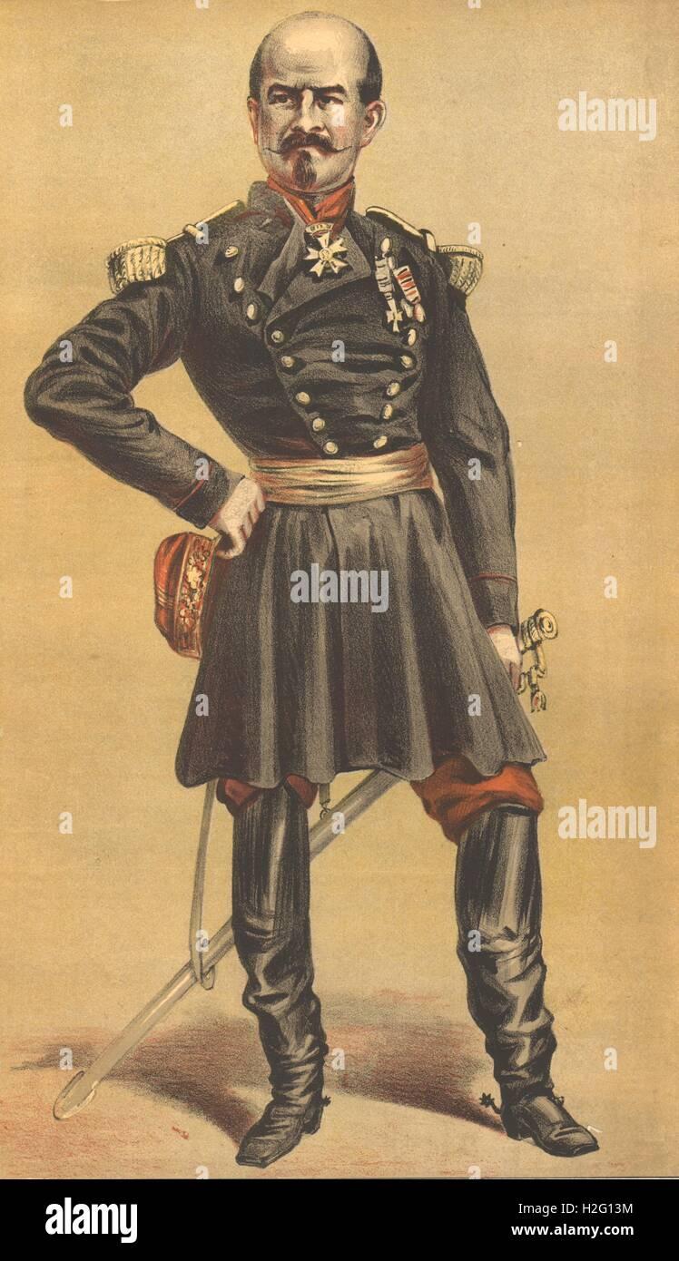 Militaria By Spy VANITY FAIR SPY CARTOON Maj-Gen Sir Daniel Lysons 1878