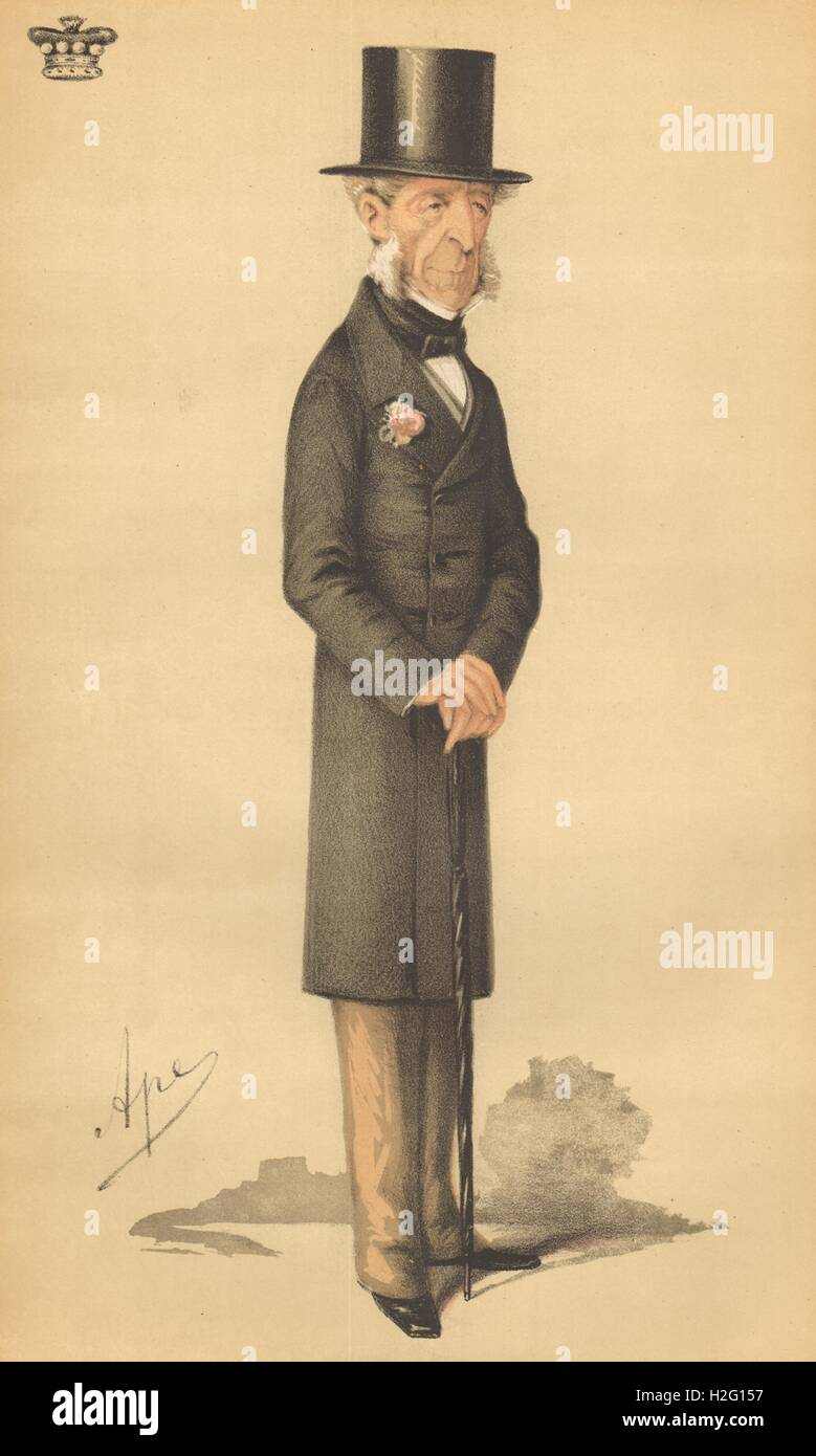 1870 Peers SPY CARTOON Lord Halifax /'He fell of his horse into a Peerage/'