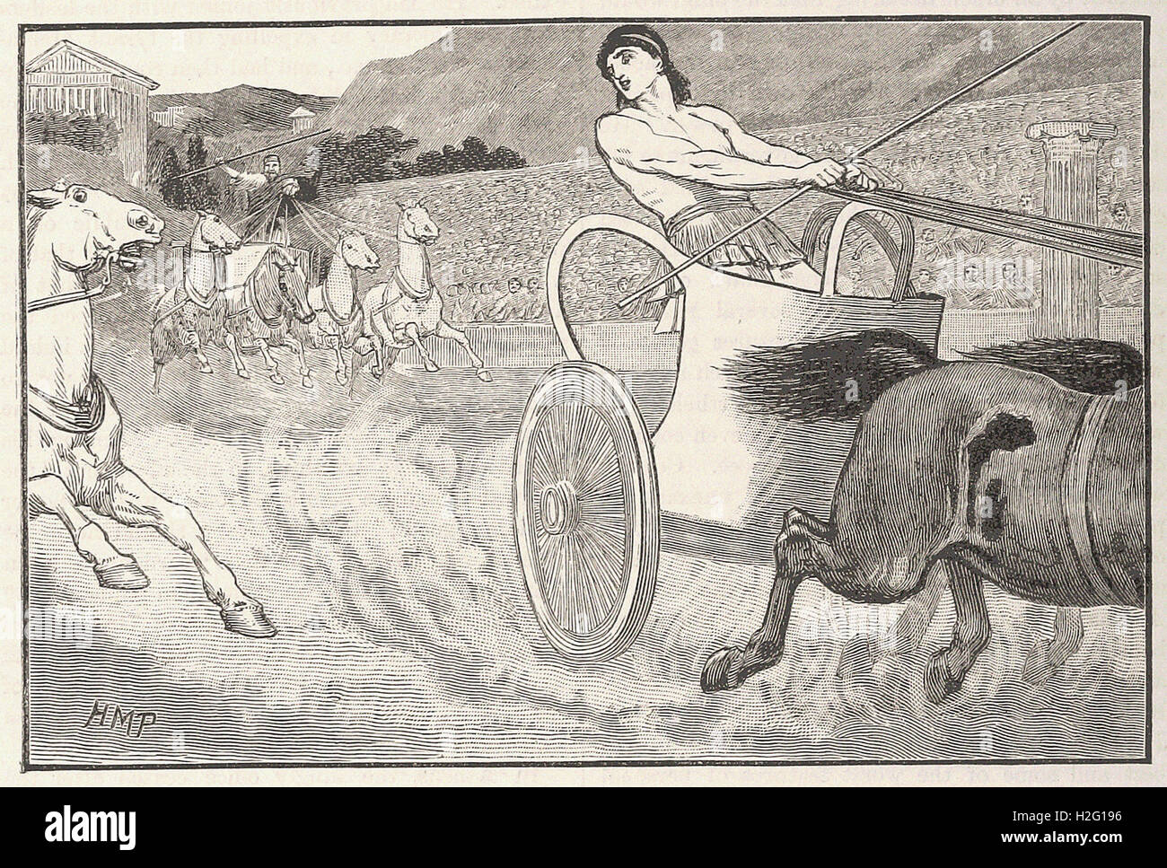 CLISTHENES AT THE OLYMPIC GAMES - from 'Cassell's Illustrated Universal History' - 1882 Stock Photo