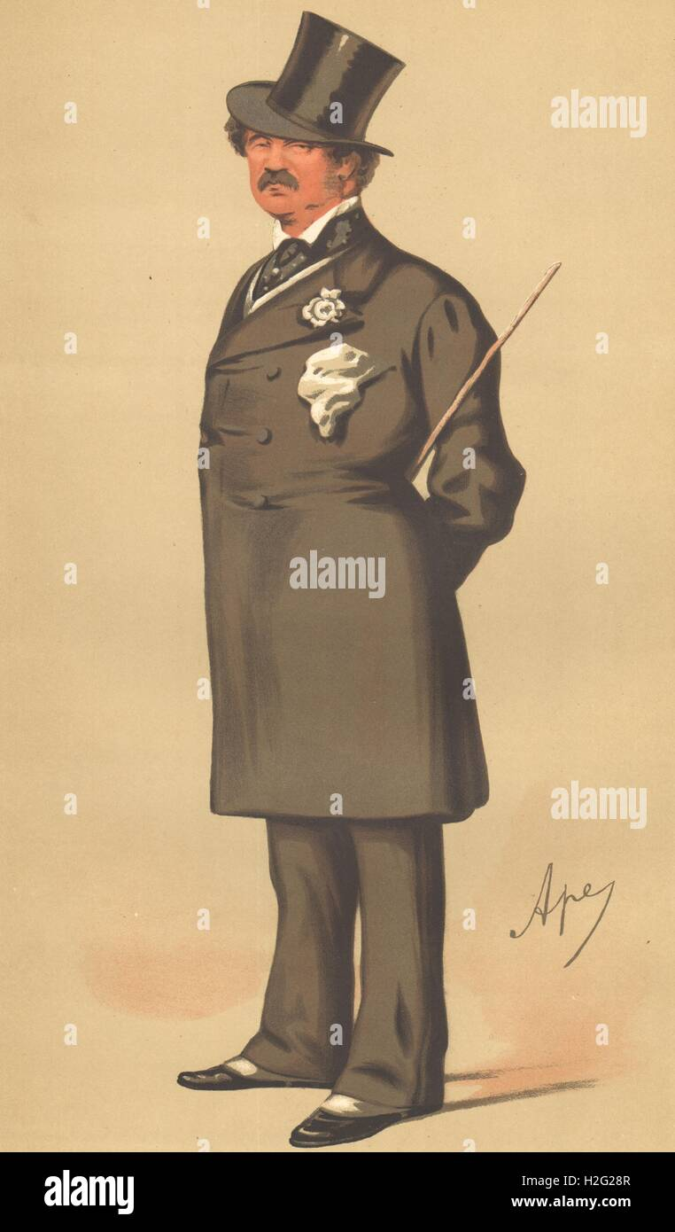 SPY CARTOON. Maj-Gen Lord Alfred Henry Paget 'The Clerk Marshal'. Staffs. 1875 Stock Photo