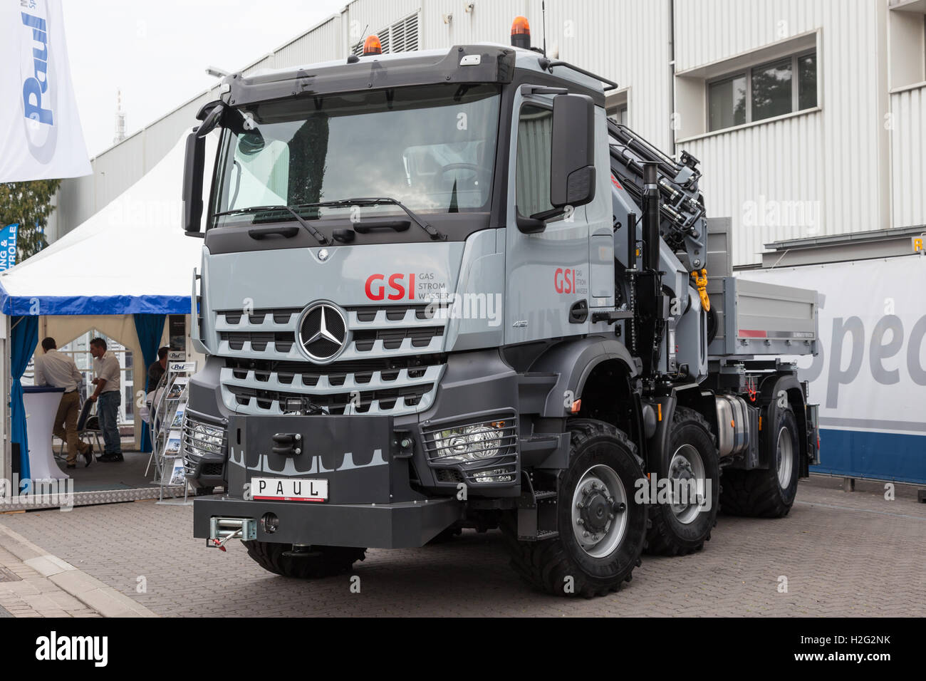 Mercedes benz actros 4151 offroad truck stock photo for The new mercedes benz truck