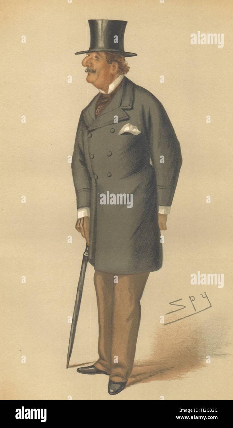 SPY CARTOON. Gen Sir Alfred Hastings Horsford 'The Beau ideal'. Militaria. 1877 Stock Photo