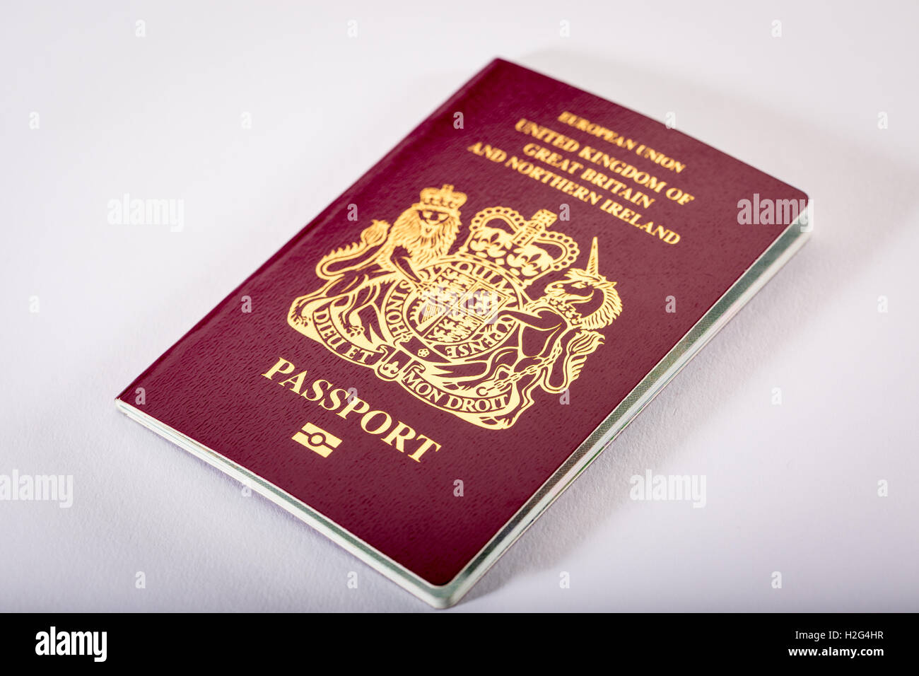 A British UK Passport - Stock Image