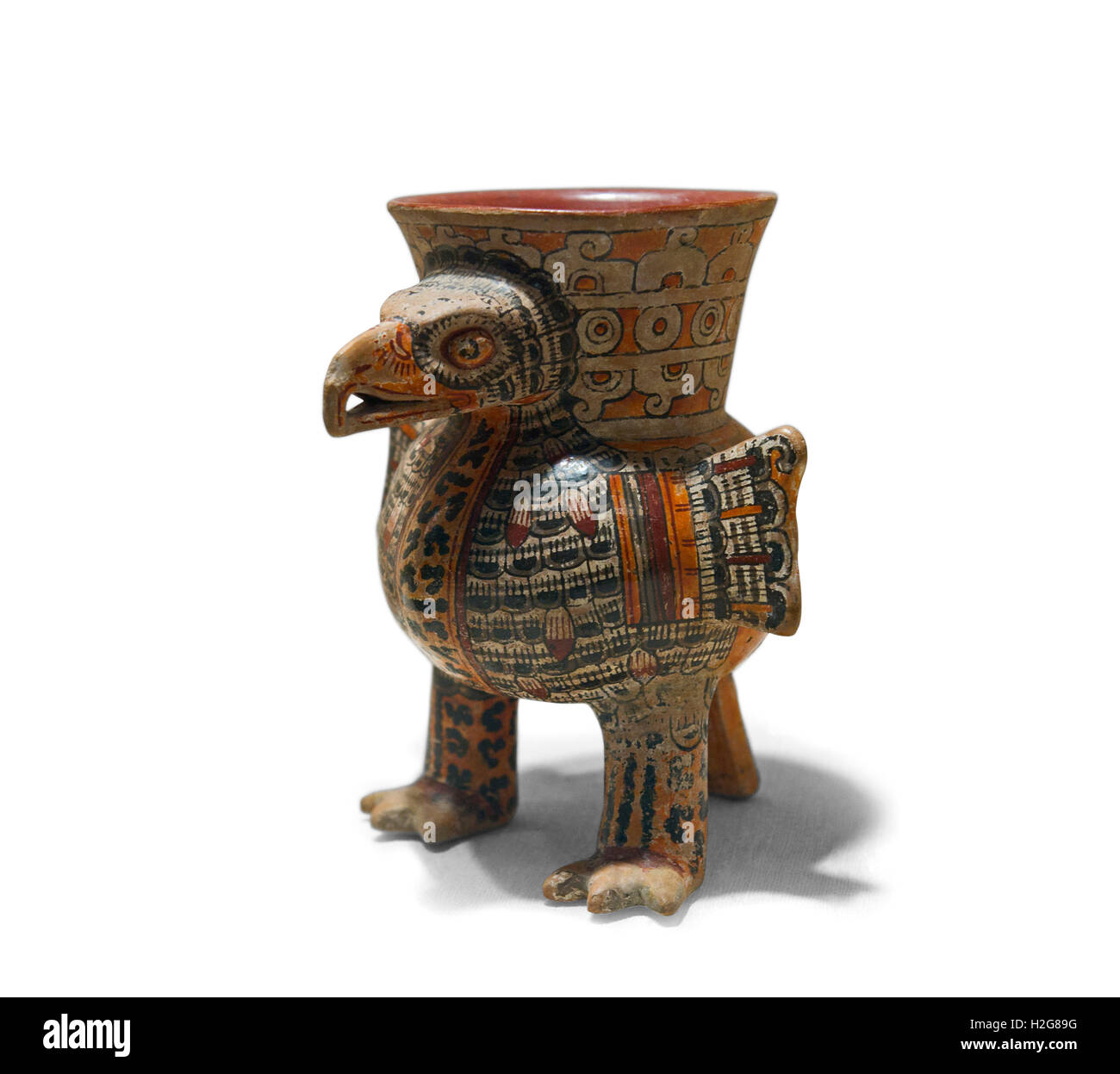 ceramic Eagle vessel from  Eastern Nahua Mexico dates to 13th to early 16th century - Stock Image