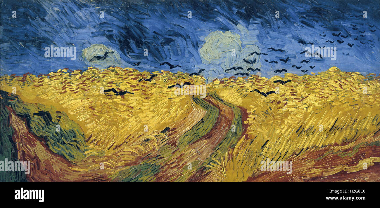 Vincent van Gogh (1853-1890) - Wheat Field with Crows - Stock Image