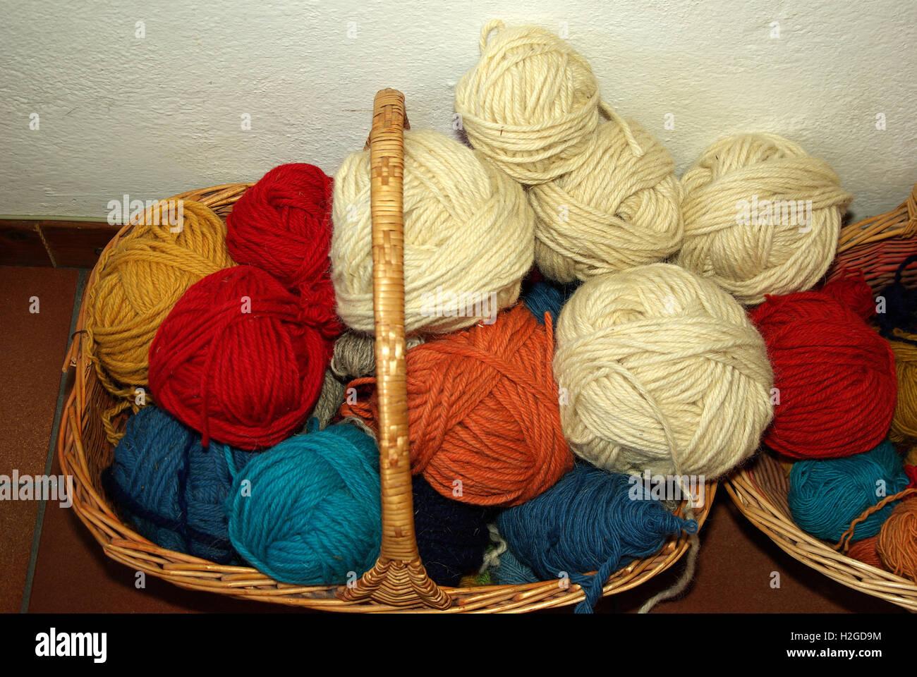 Skein of wool - Stock Image