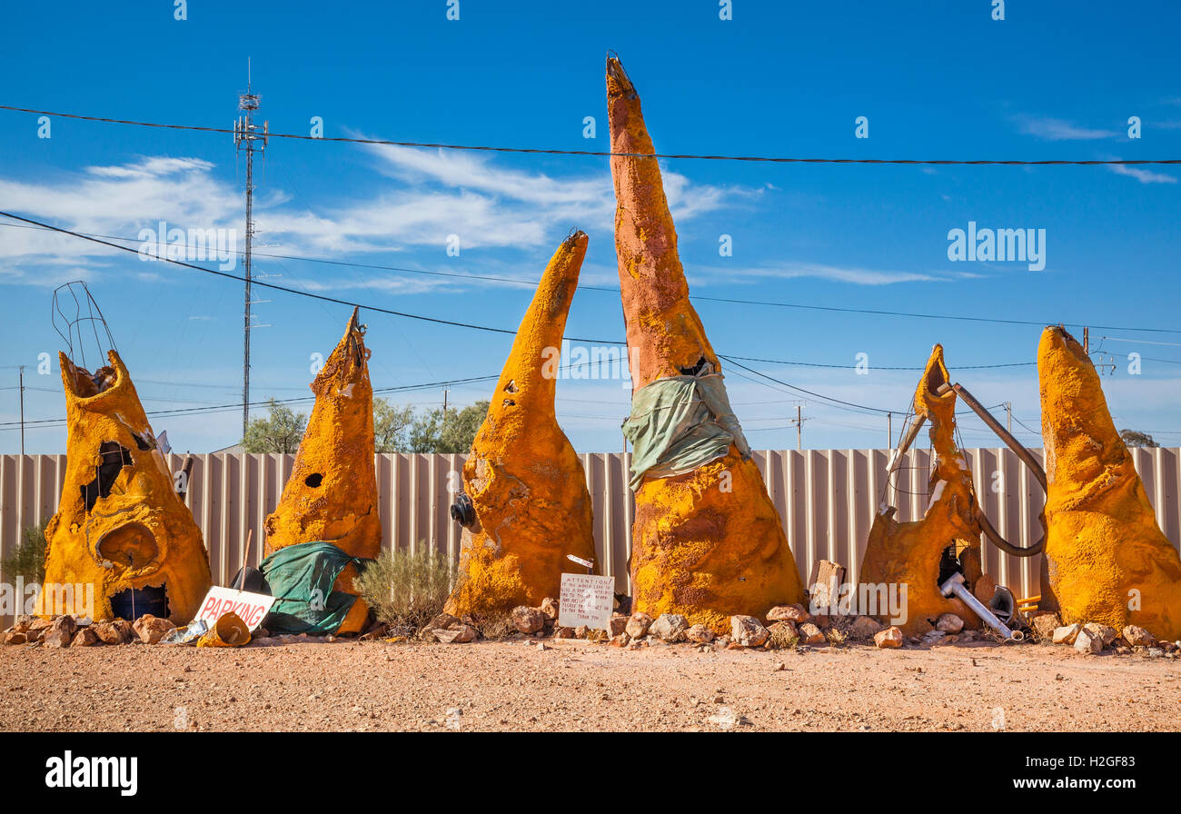 Australia, South Australia, Outback, Coober Pedy, quirky exhibits at the isolated opal mining town - Stock Image