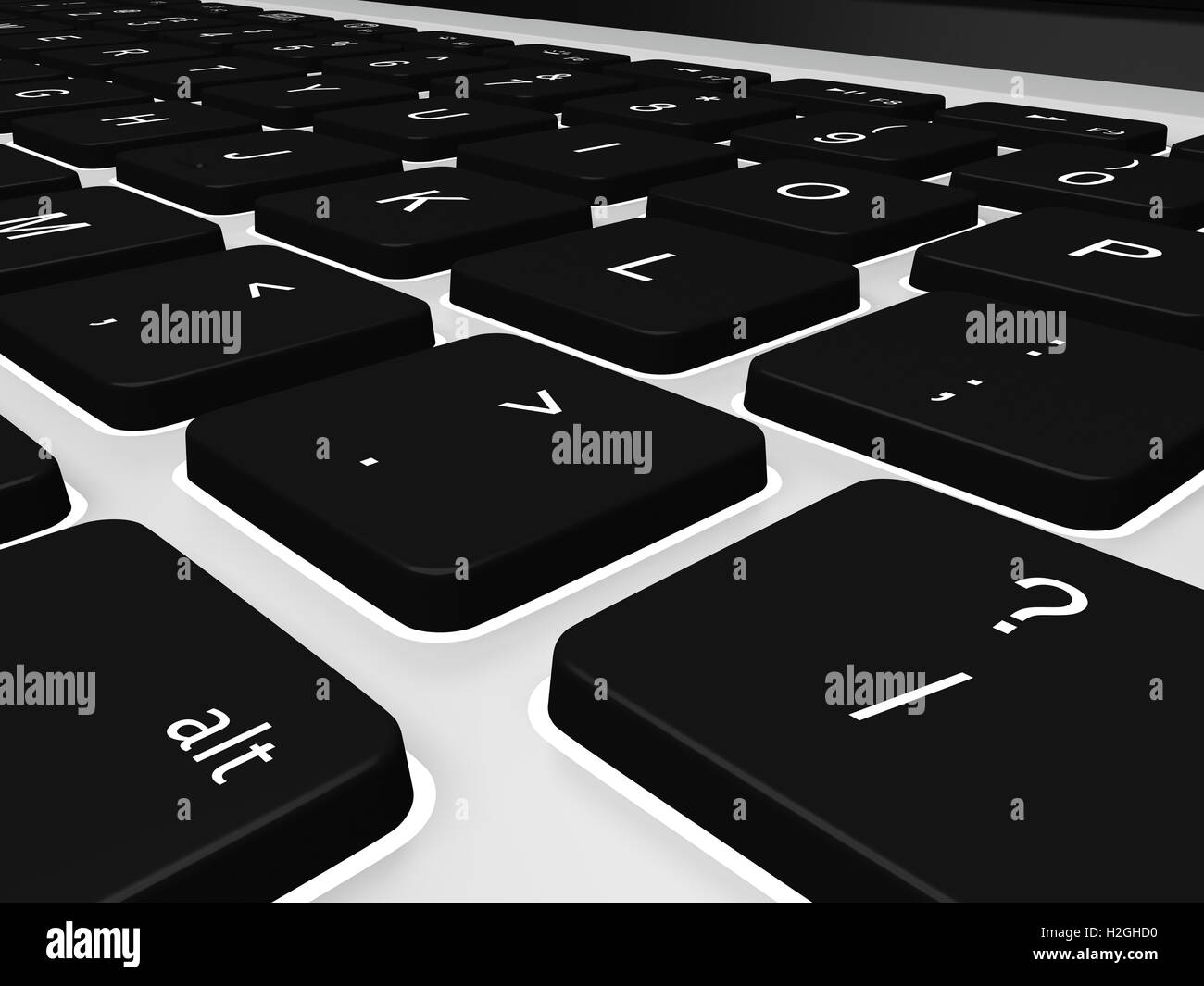 Keyboard detail - Stock Image
