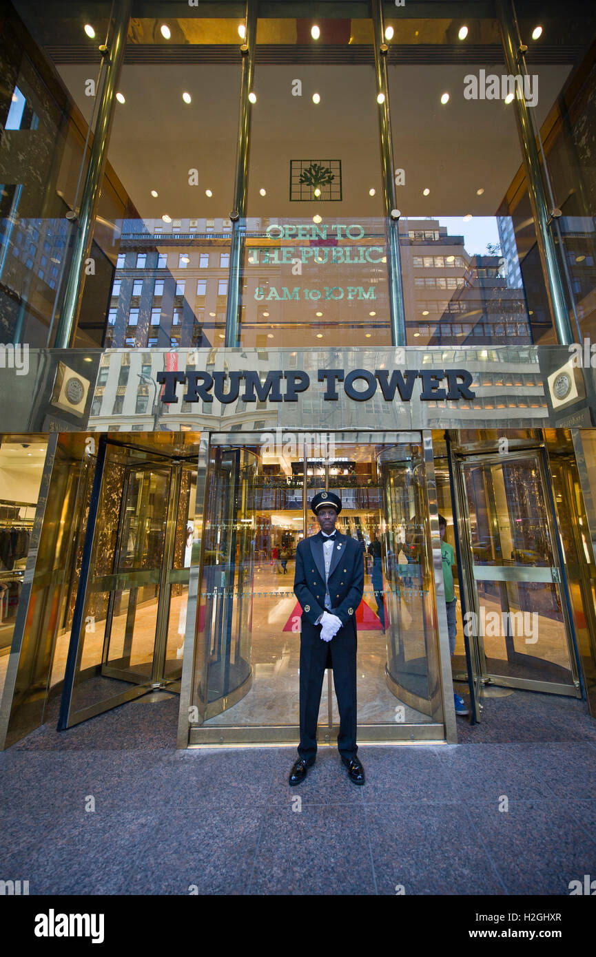 Trump Tower entrance, New York - Stock Image