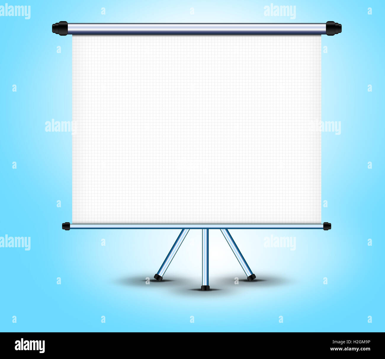 White screen projector horizontal on a stand Stock Photo: 122069074 ...