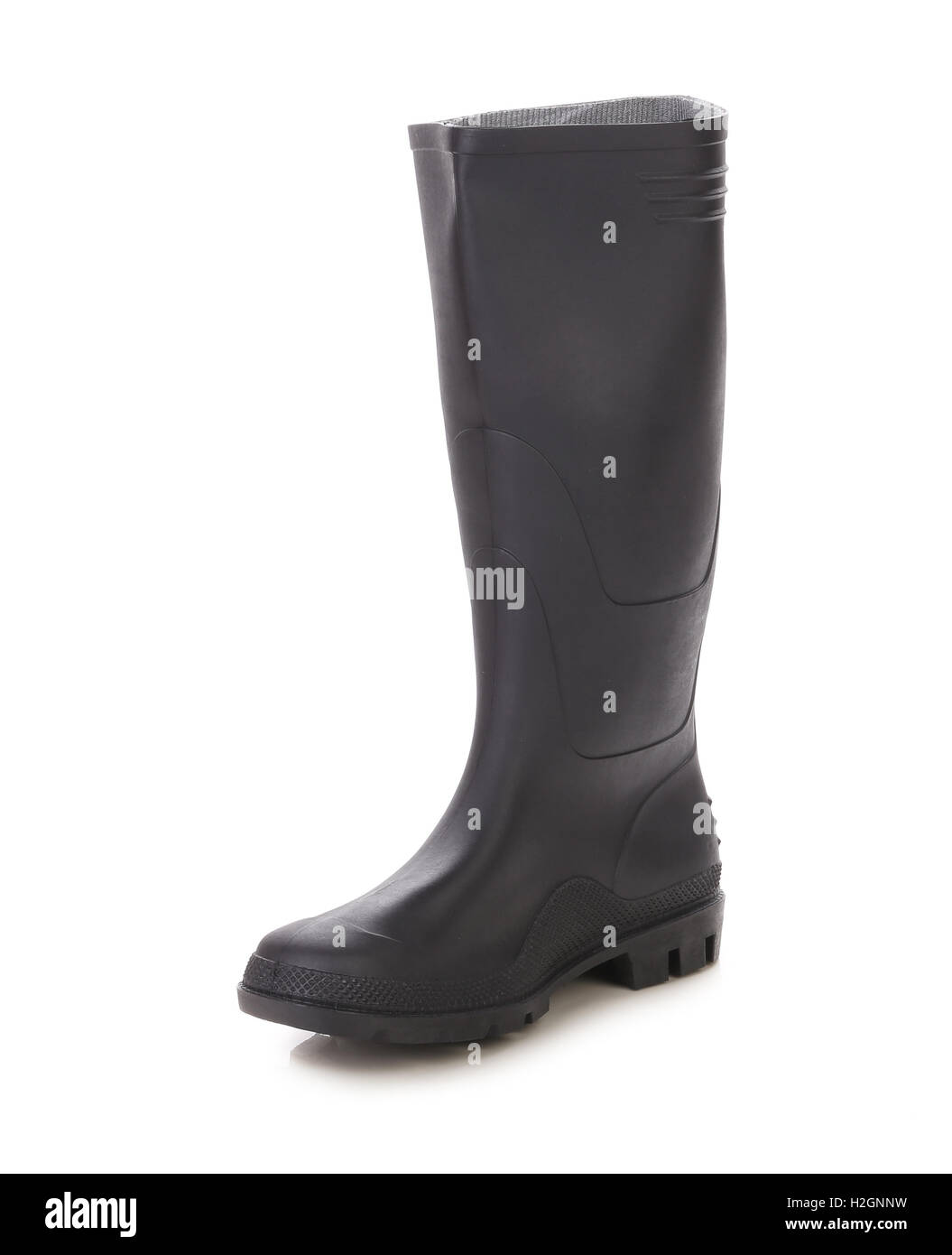 High rubber boot. Stock Photo