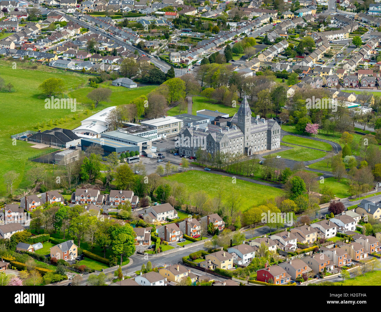 St. Flannan's College, secondary school, Ennis, County Clare, Ireland - Stock Image