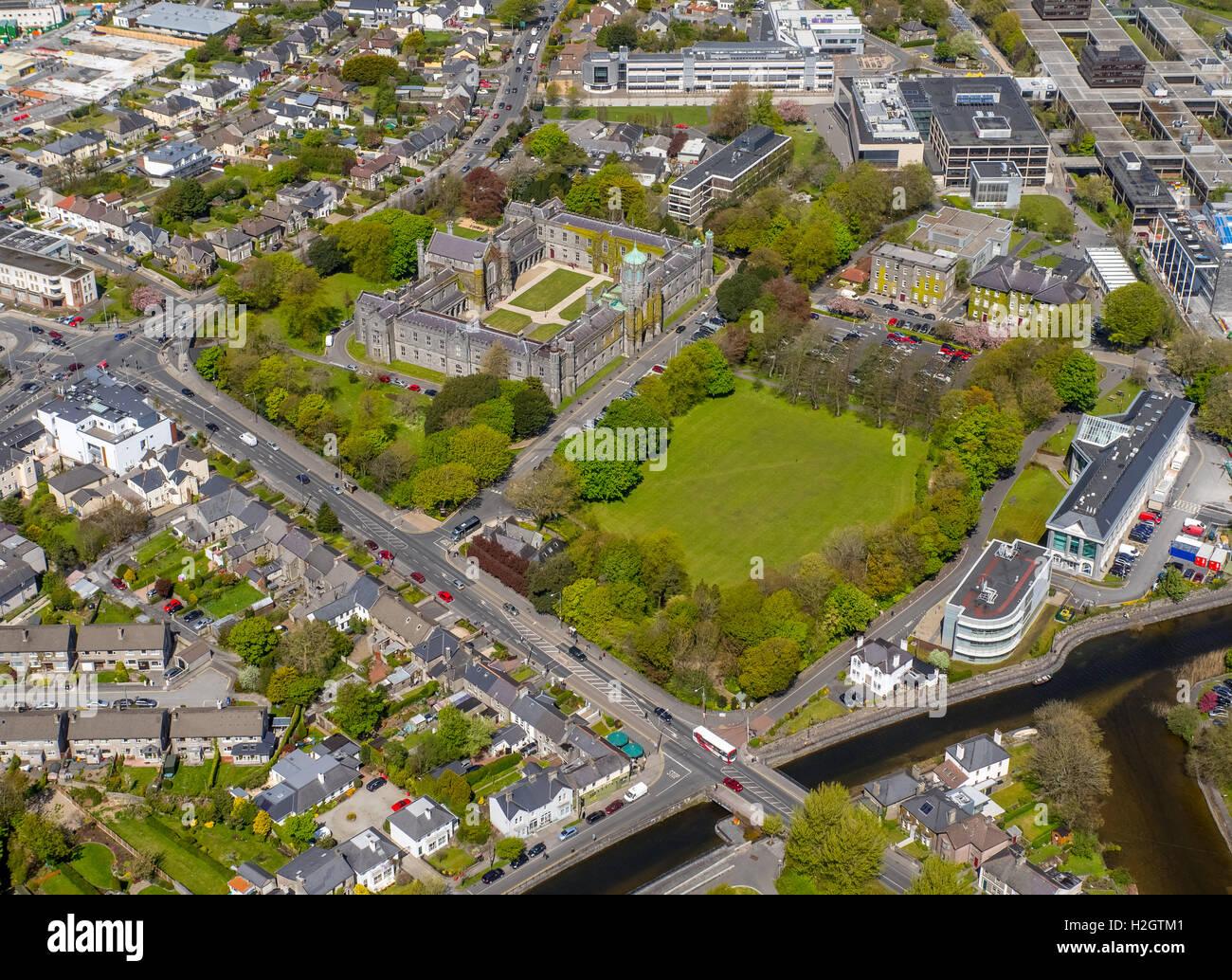 National University of Ireland, NUI, campus, quadrangle, Galway, County Clare, Ireland - Stock Image