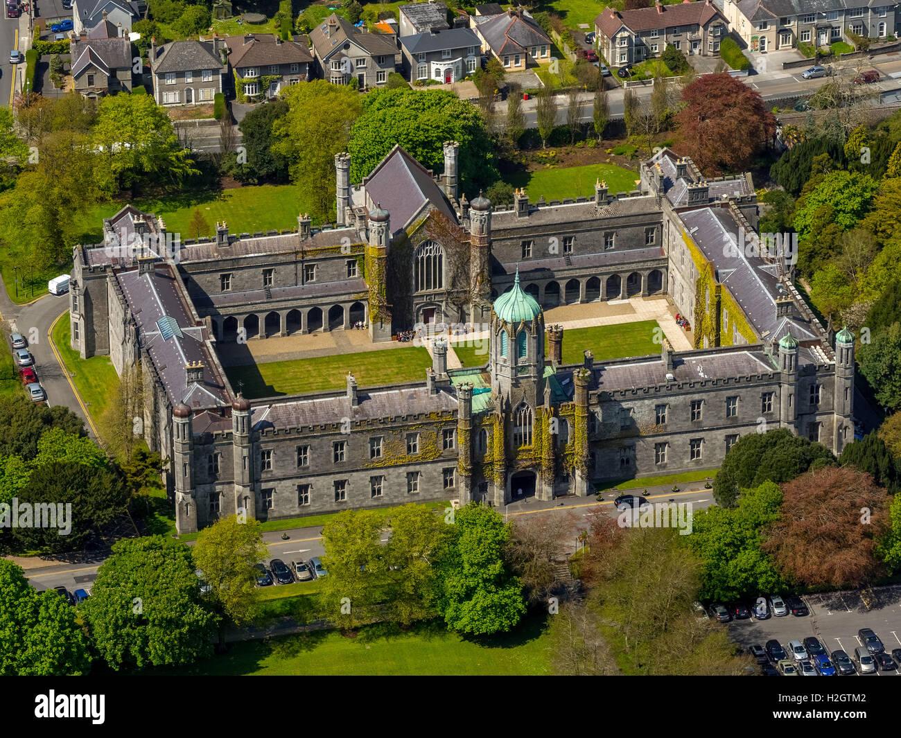 National University of Ireland, NUI, quadrangle, Galway, County Clare, Ireland - Stock Image
