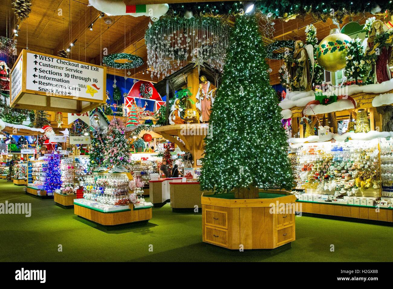 inside the world famous bronners christmas wonderland frankenmuth michigan usa aug