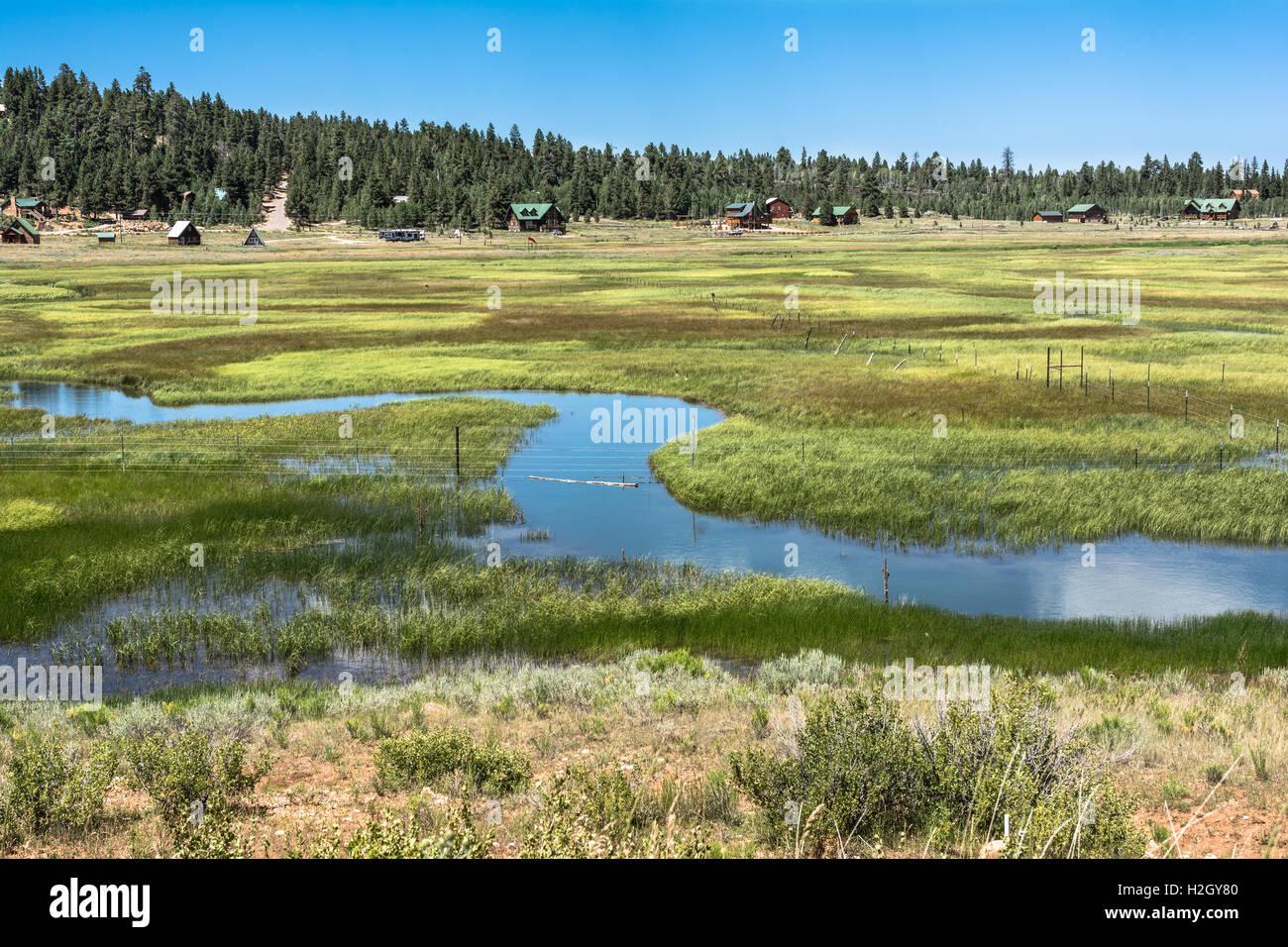 Duck Creek Village Utah >> Landscape Of Duck Creek Village Utah Stock Photo 122074512 Alamy