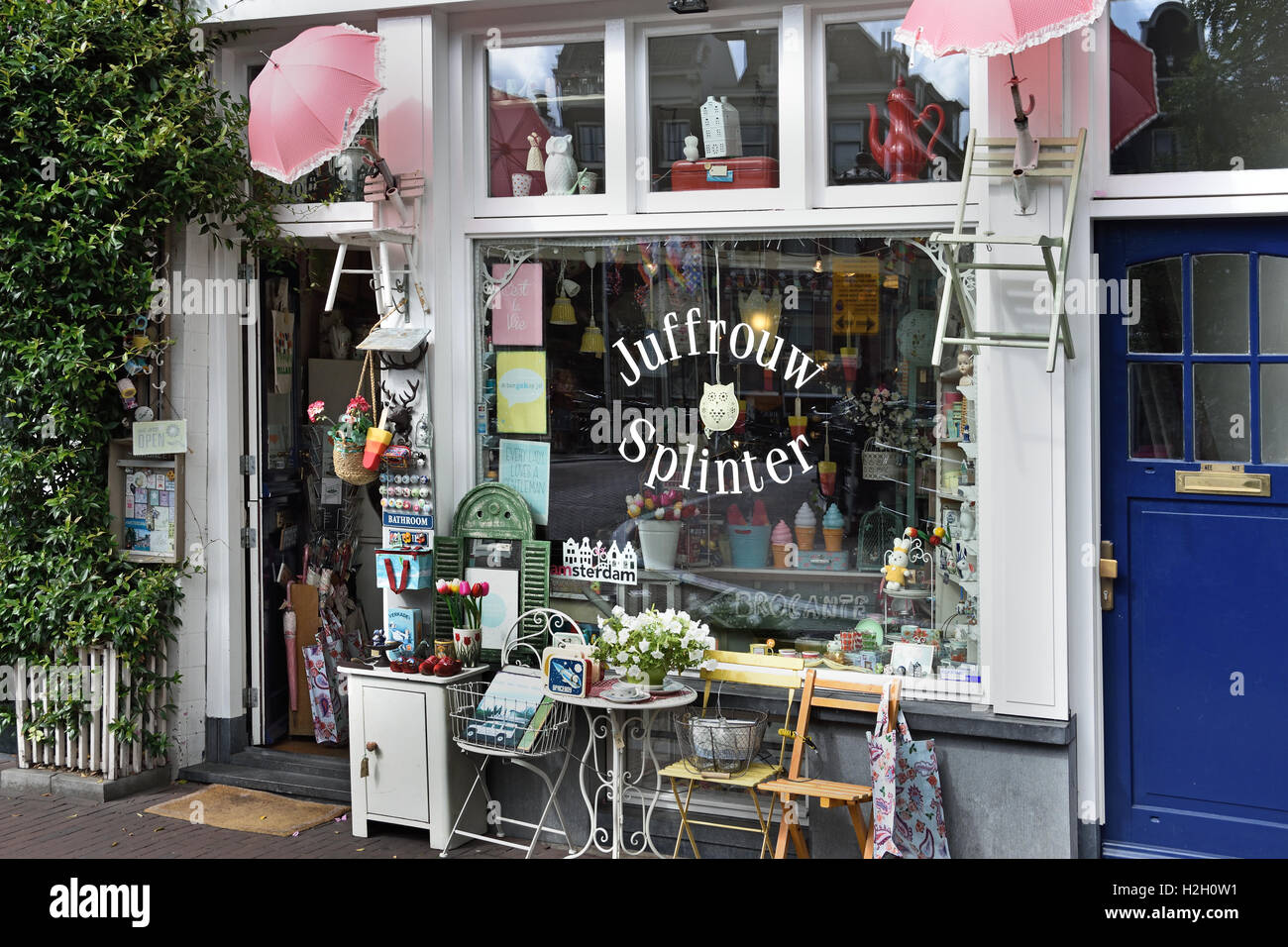 Juffrouw Splinter  swap bazaar  Prinsengracht Jordaan Amsterdam Netherlands - Stock Image