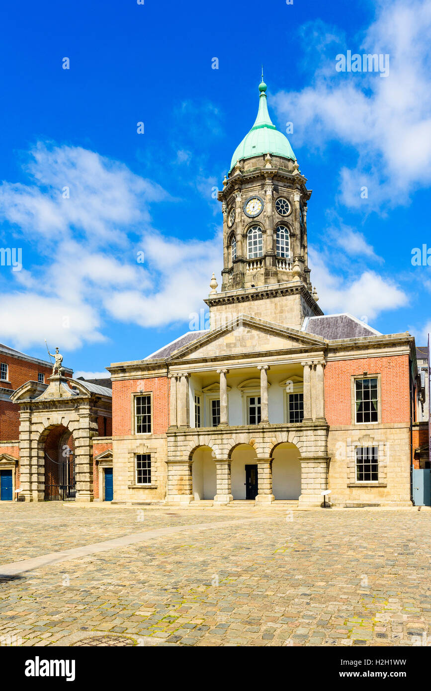 The Bedford Tower in the Great Courtyard of Dublin Castle, Ireland Stock Photo