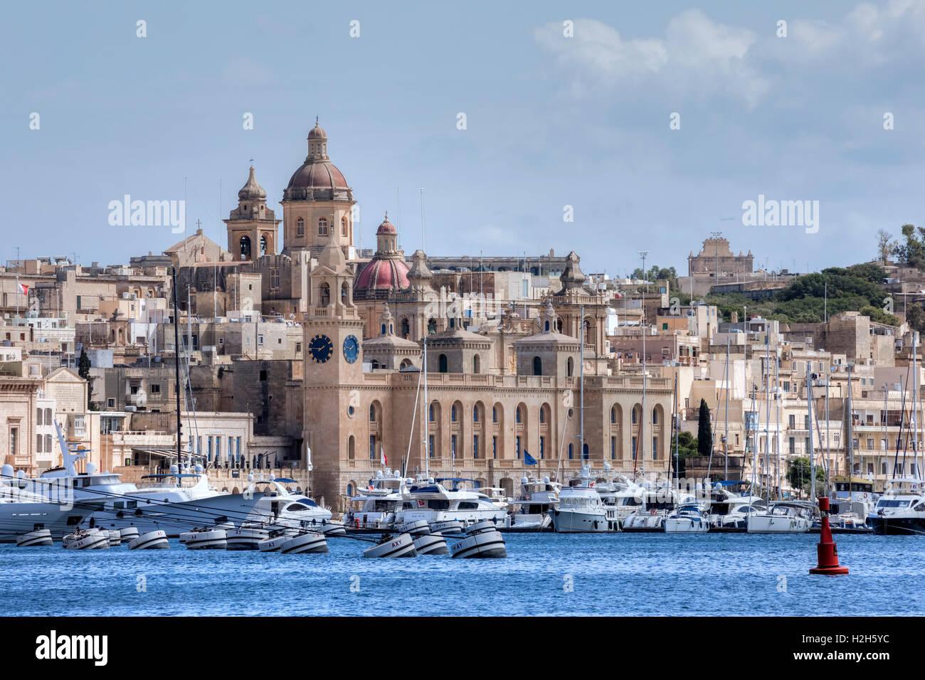 Three Cities, Valletta, Malta - Stock Image