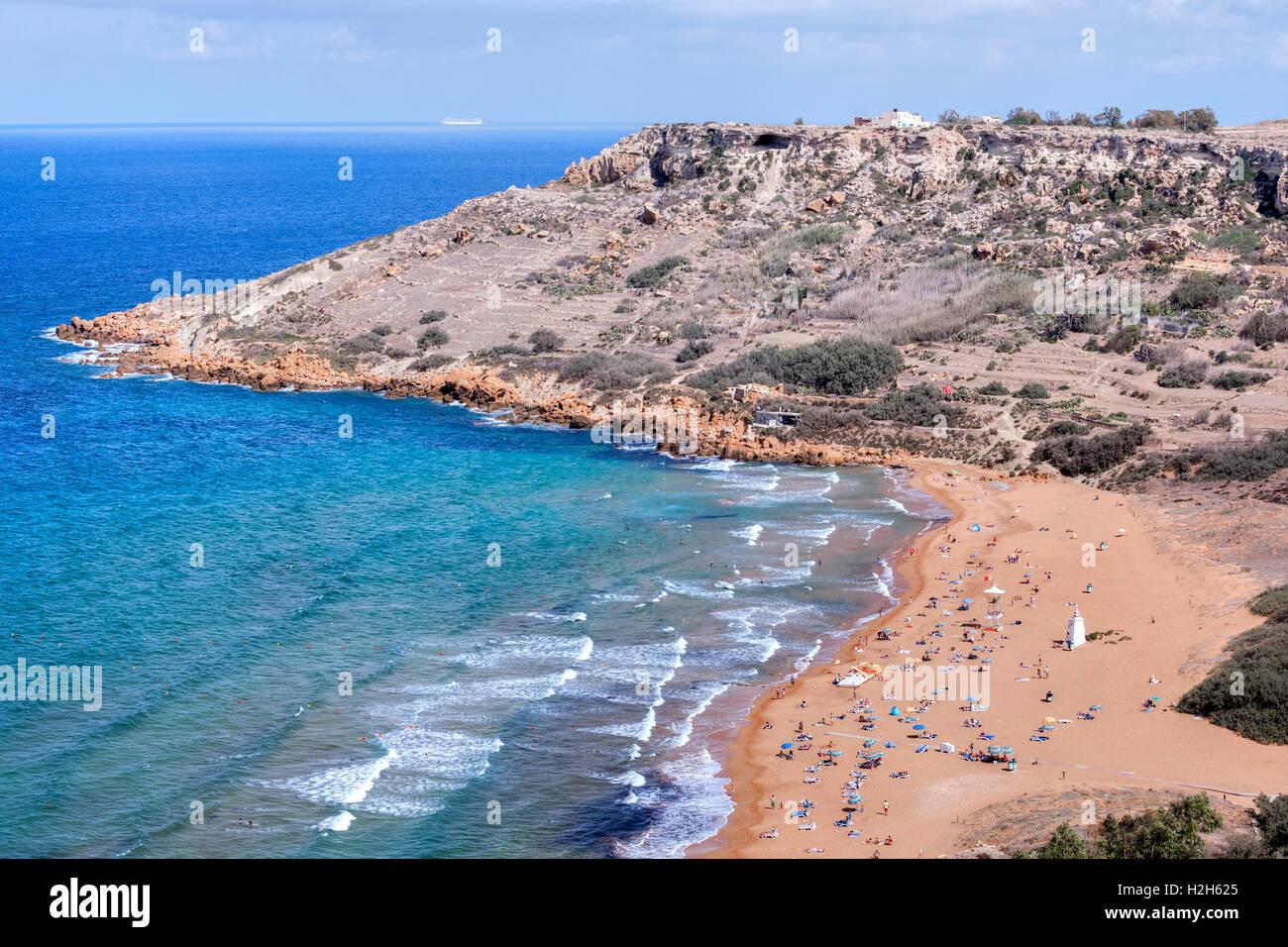Ramla Bay, Gozo, Malta - Stock Image