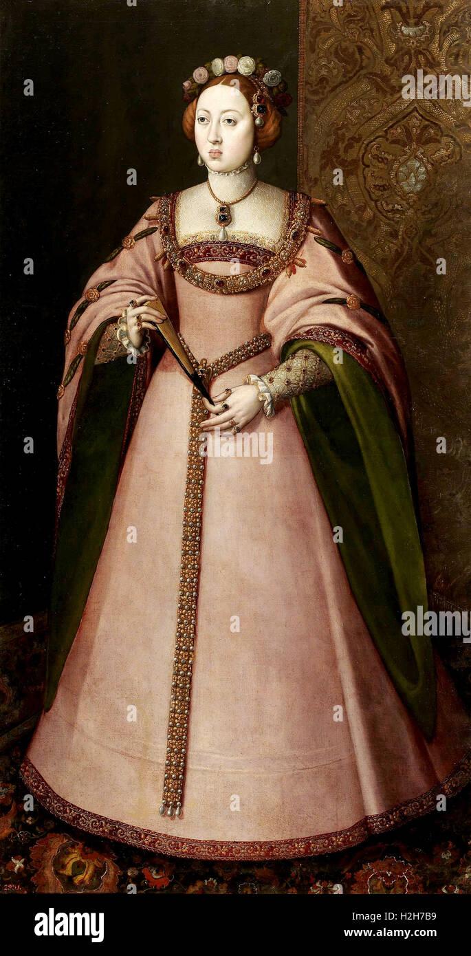 Princess Maria of Portugal, Dona Maria Manuela Stock Photo