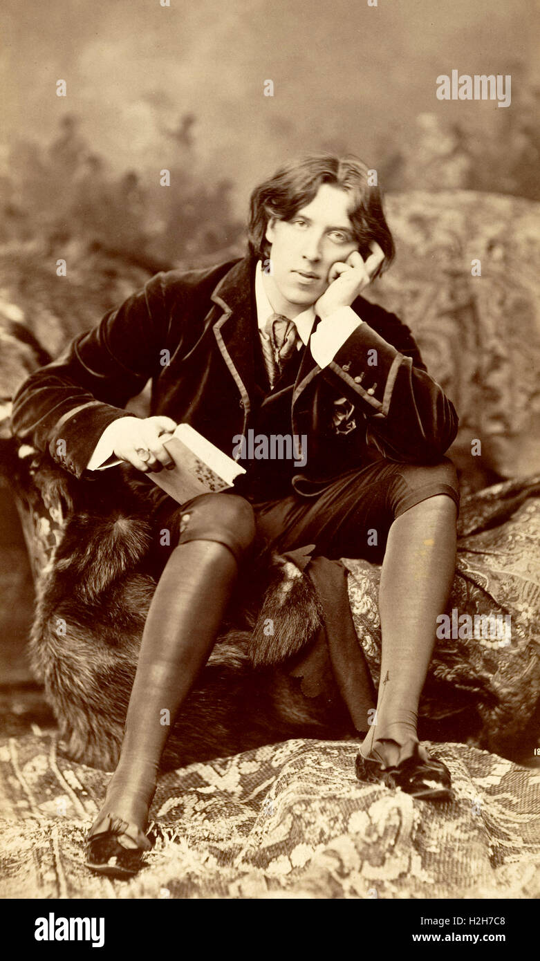 'Oscar Wilde' Irish playwright, novelist and poet - Stock Image