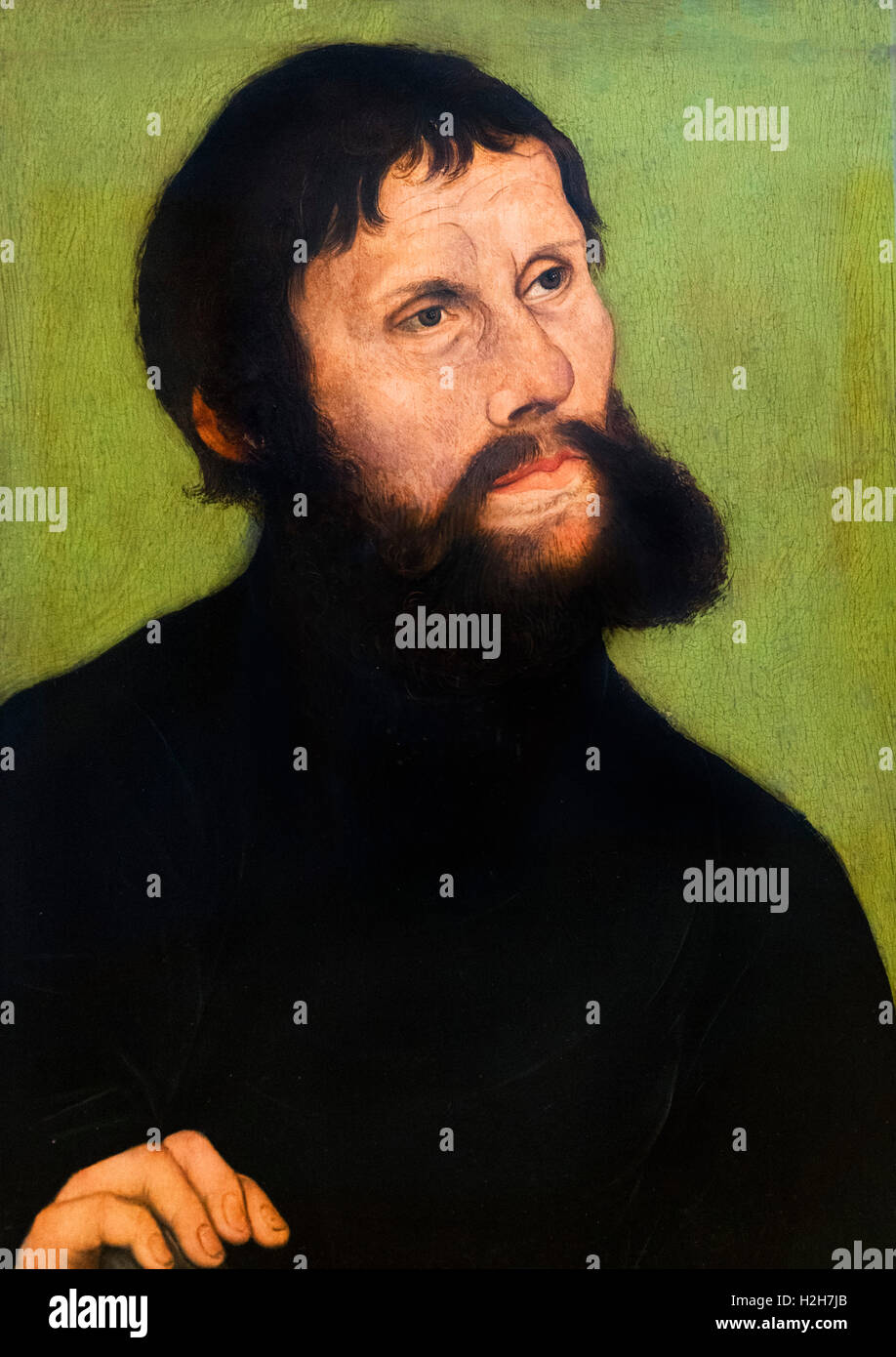 Martin Luther (1483-1546) as Junker Jörg by Lucas Cranach the Elder, c.1522. Whilst in hiding at Wartburg Castle, - Stock Image