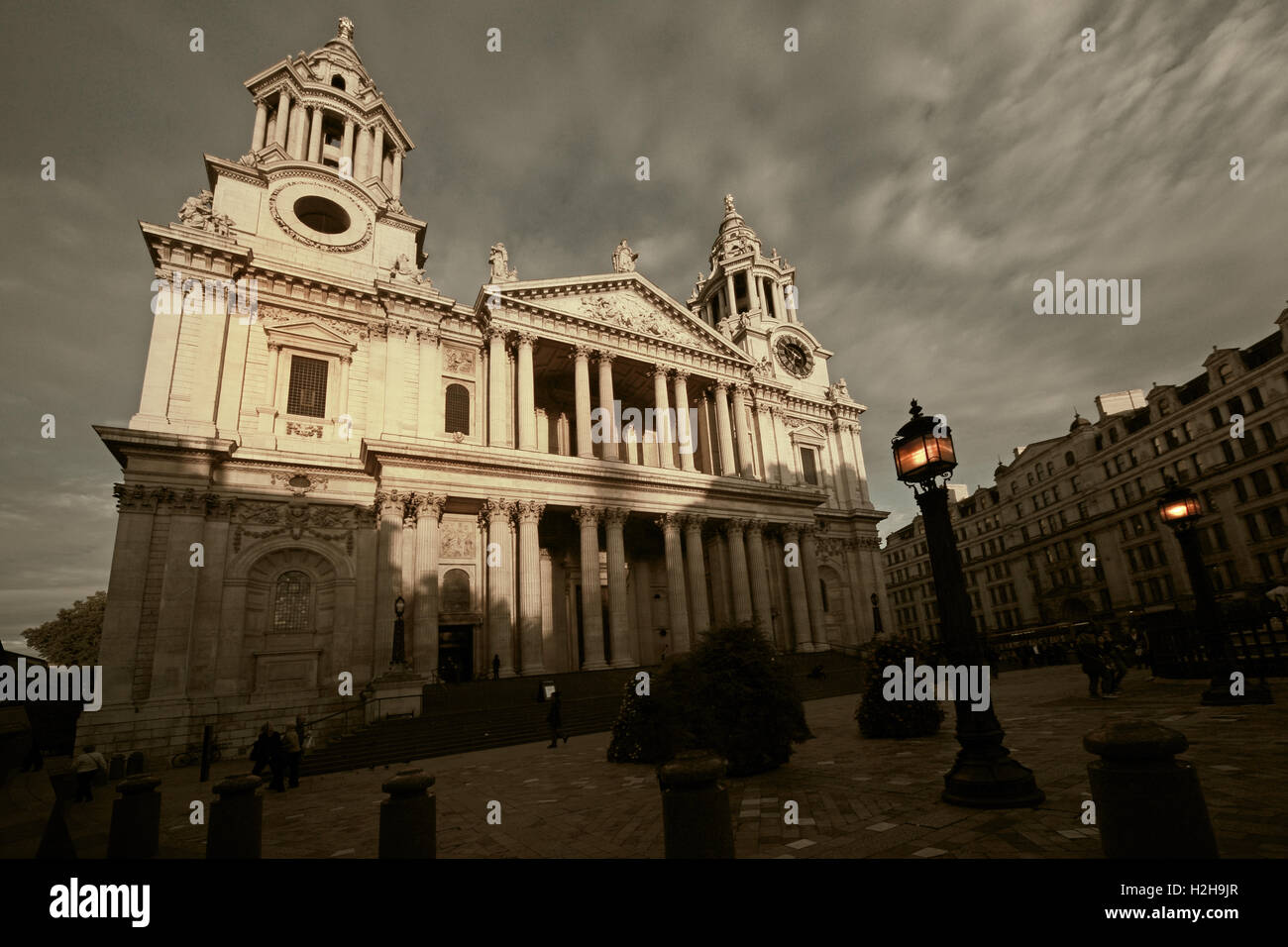 St Pauls Cathedral London in the evening Stock Photo