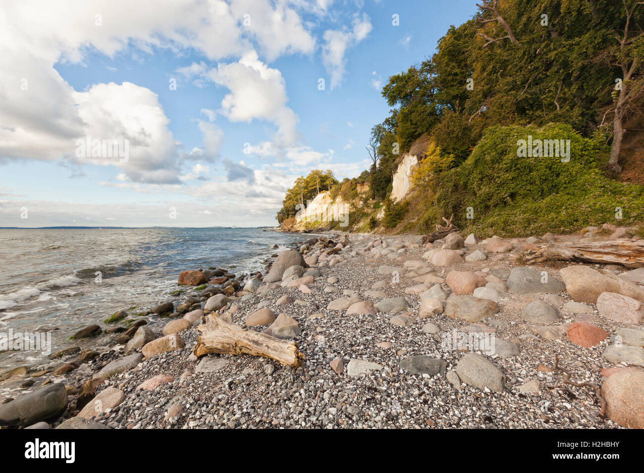Chalk cliffs at Jasmund National Park, Rügen, Germany Stock Photo