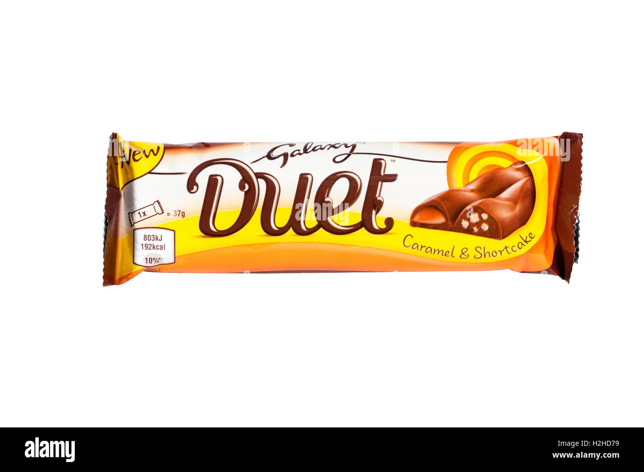 A Galaxy Duet chocolate bar made by Mars incorporated. - Stock Image