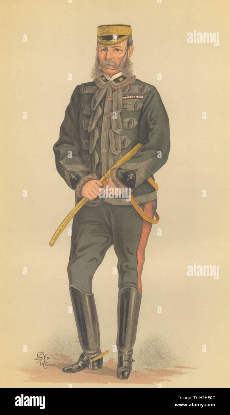 SPY CARTOON. General Frederick Roberts 'Bobs'. Indian Mutiny. 2nd Boer War. 1880 - Stock Image