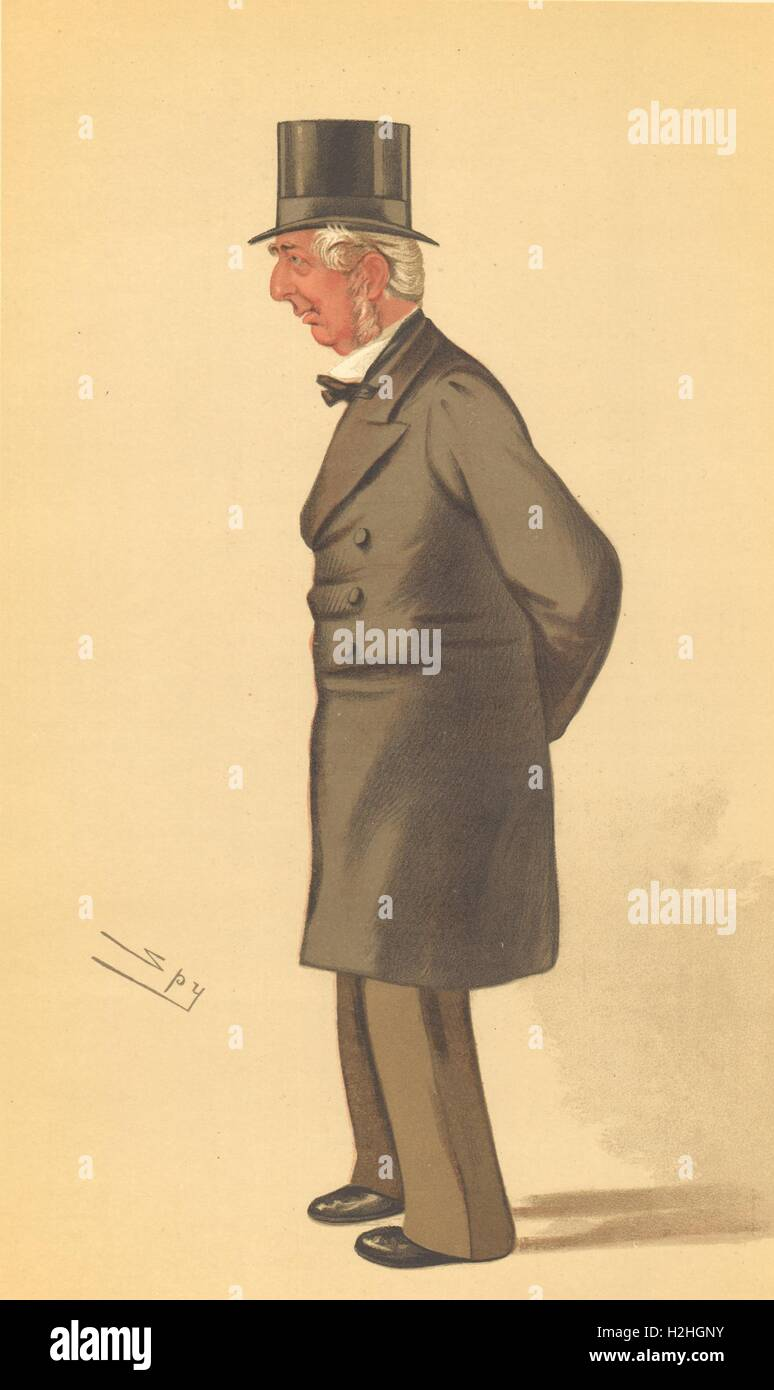 SPY CARTOON. Frederick Winn Knight 'has sat for three & forty years'. 1884 Stock Photo
