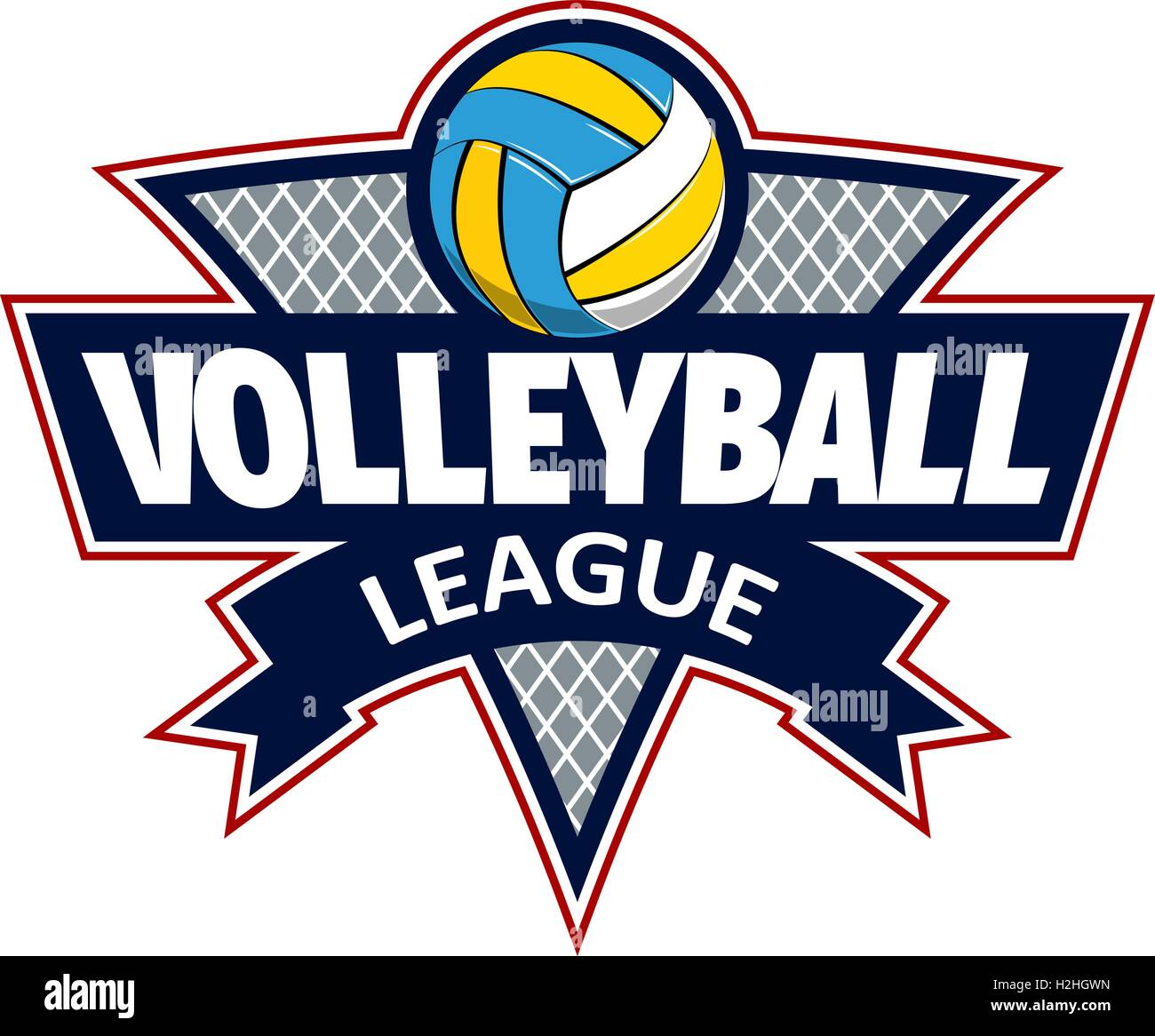 Volleyball Logo For The Team And The Cup Stock Vector Art