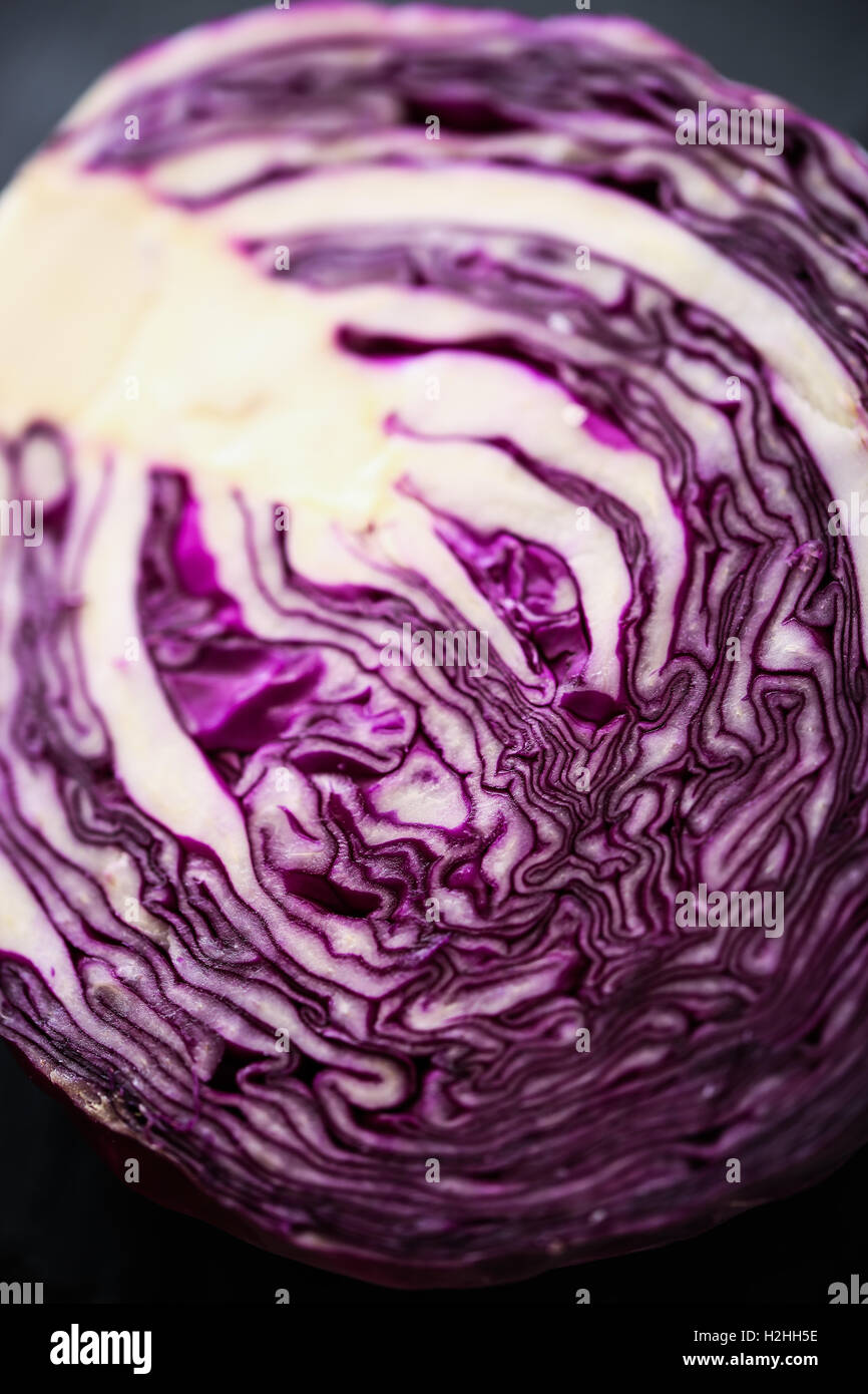 Red Cabbage closeup - Stock Image
