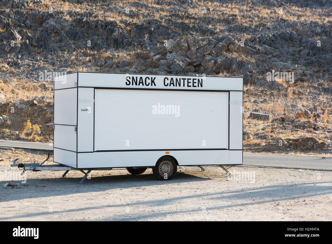 A mobile snack canteen - Stock Image