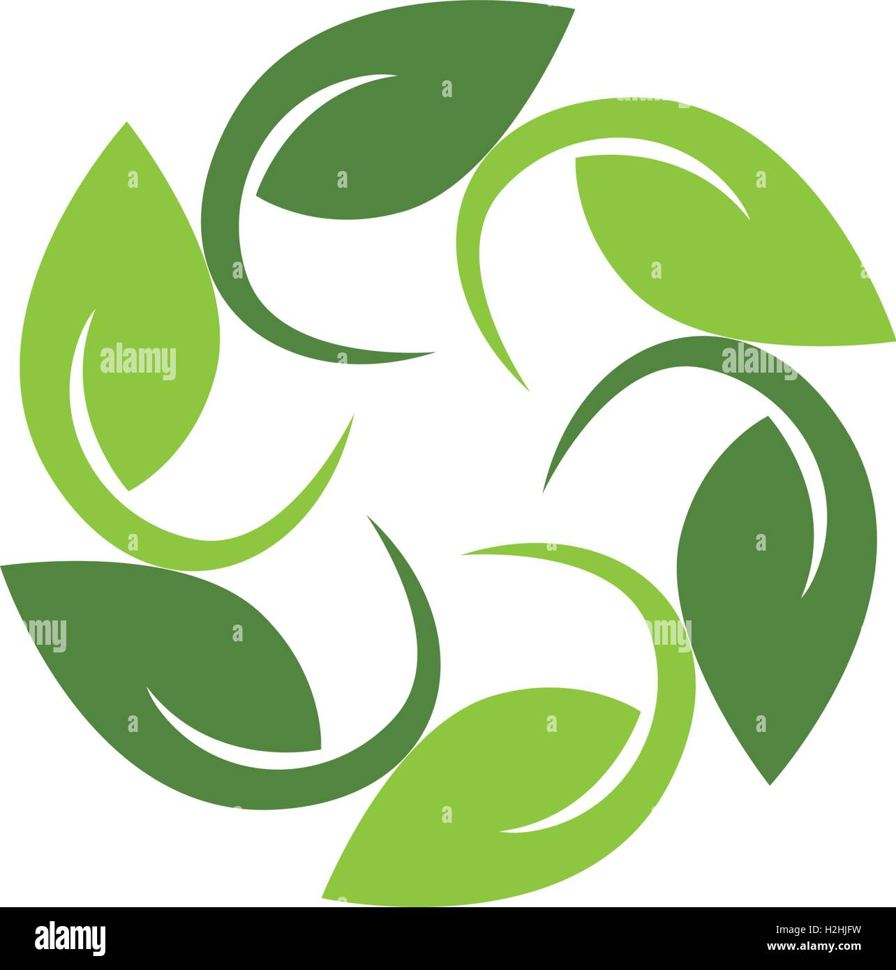 Tree Leaf Vector Logo Design Eco Friendly Concept Stock