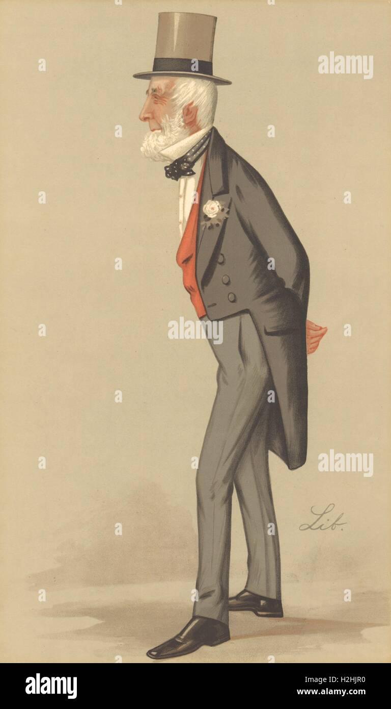 VANITY FAIR SPY CARTOON. 'Mr James Weatherby'. Horseracing administration. 1890 Stock Photo