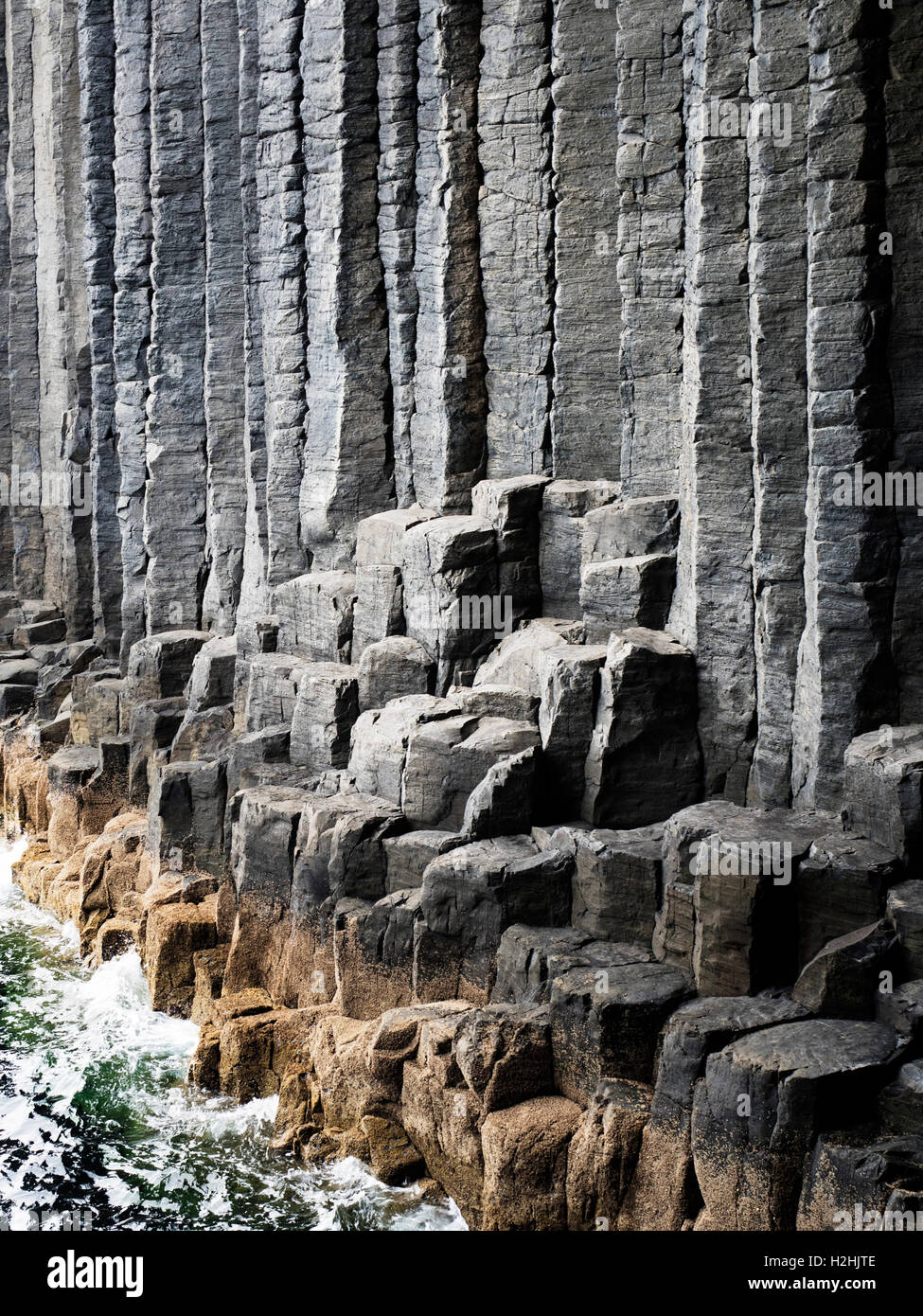 Basalt Columns in the Mouth of Fingals Cave Isle of Staffa Argyll and Bute Scotland Stock Photo