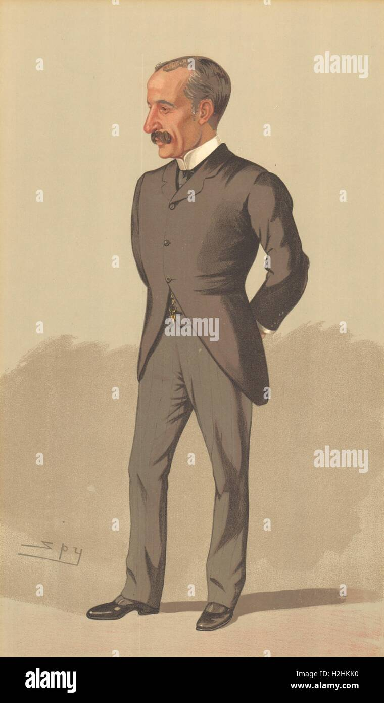 SPY CARTOON. Sir James Sivewright 'Imperialist Afrikander'. South Africa. 1893 - Stock Image