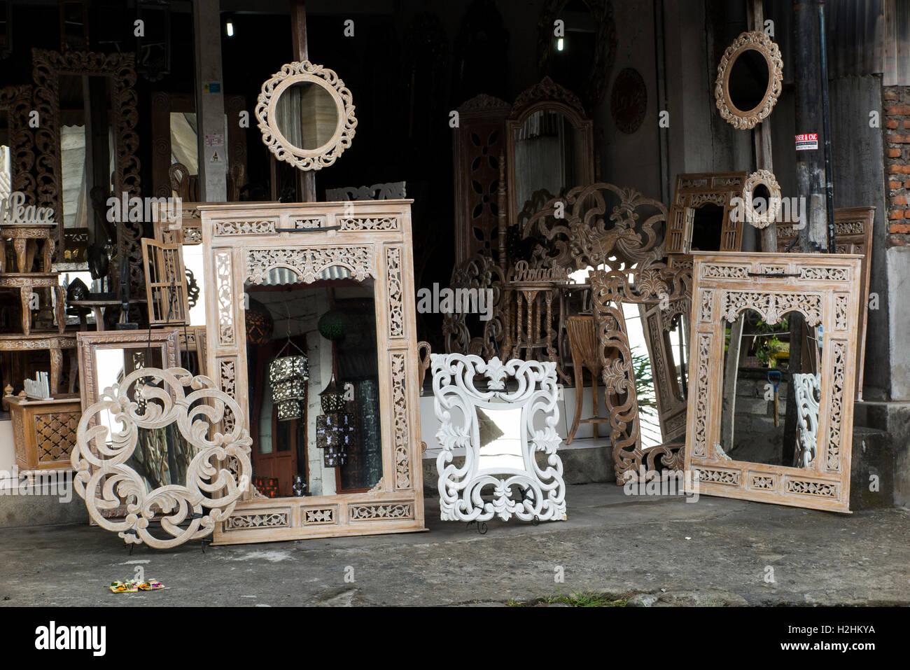Indonesia, Bali, Mas, Shop Selling Furniture Made For European Market Export