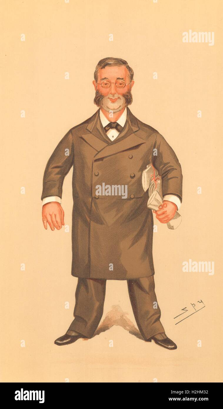 SPY CARTOON. Sir Balthazar Walter Foster 'The Ilkeston Division'. Doctors. 1894 - Stock Image