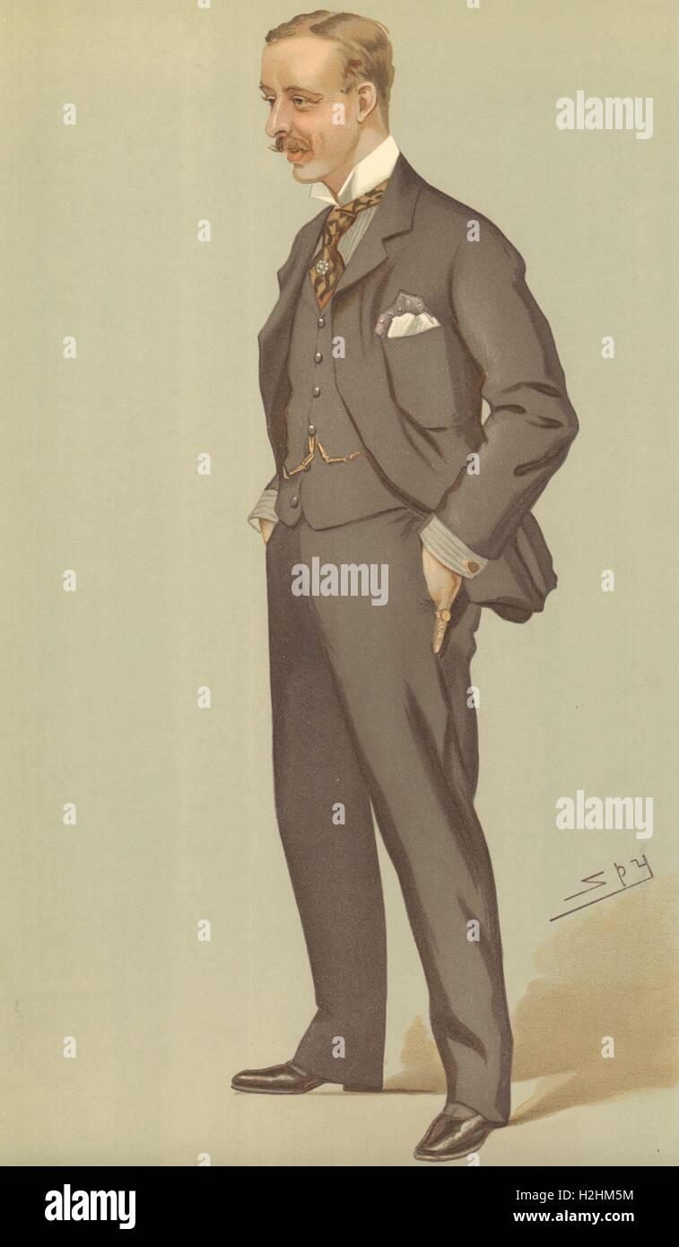 VANITY FAIR SPY CARTOON. Alfred James Bethell 'Go, Gas & Gold'. Yorkshire. 1895 Stock Photo