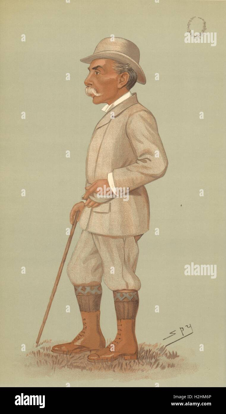 VANITY FAIR SPY CARTOON. Alfred Austin 'the Laureate'. Poets. By Spy. 1896 Stock Photo