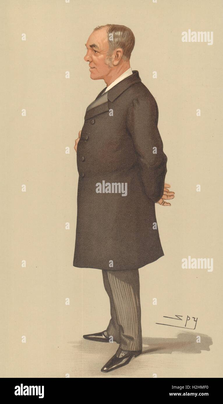 SPY CARTOON. Capt Sir Alfred Jephson 'The Imperial Institute'. Naval. Spy. 1897 Stock Photo