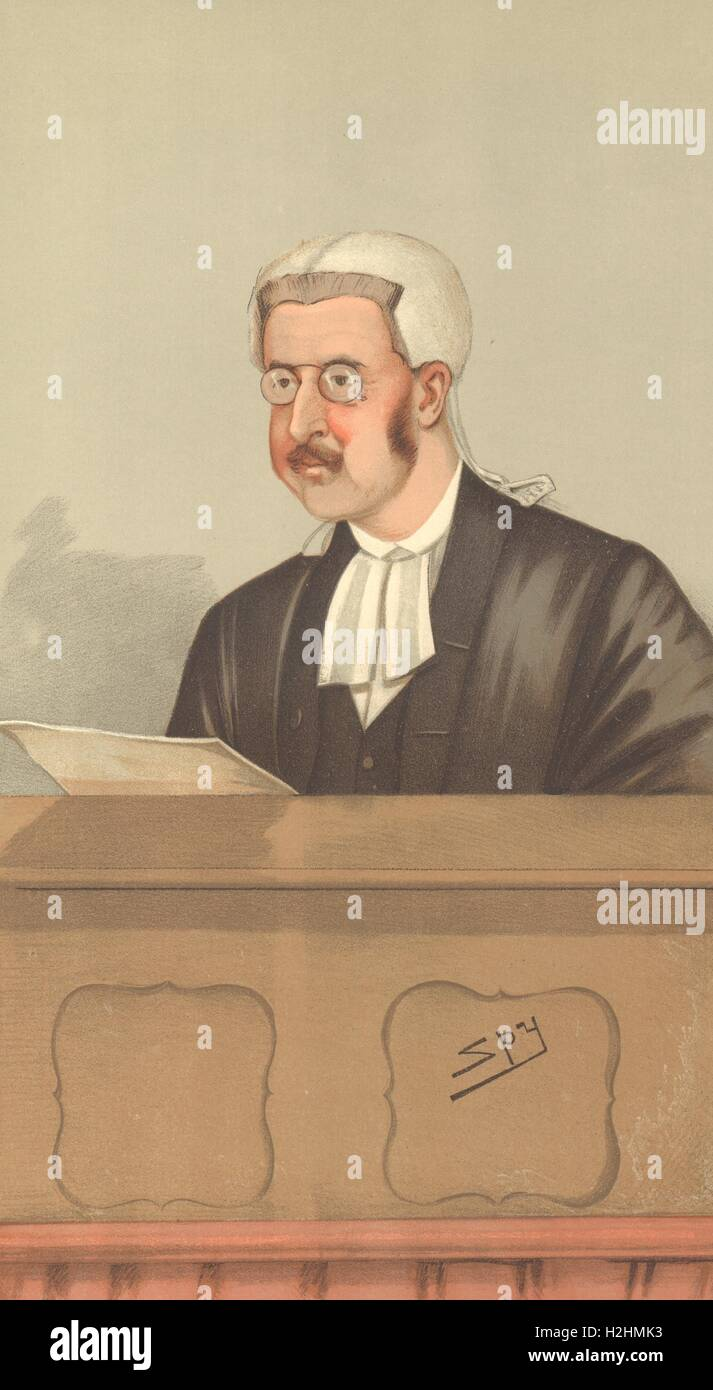 SPY CARTOON. Walter George Frank Phillimore 'A judicial Churchman'. Judges. 1898 - Stock Image