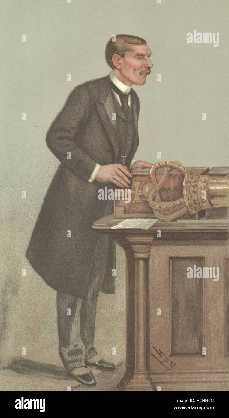 SPY CARTOON. St John Brodrick, Visc Midleton, Secretary of State for War. 1901 - Stock Image