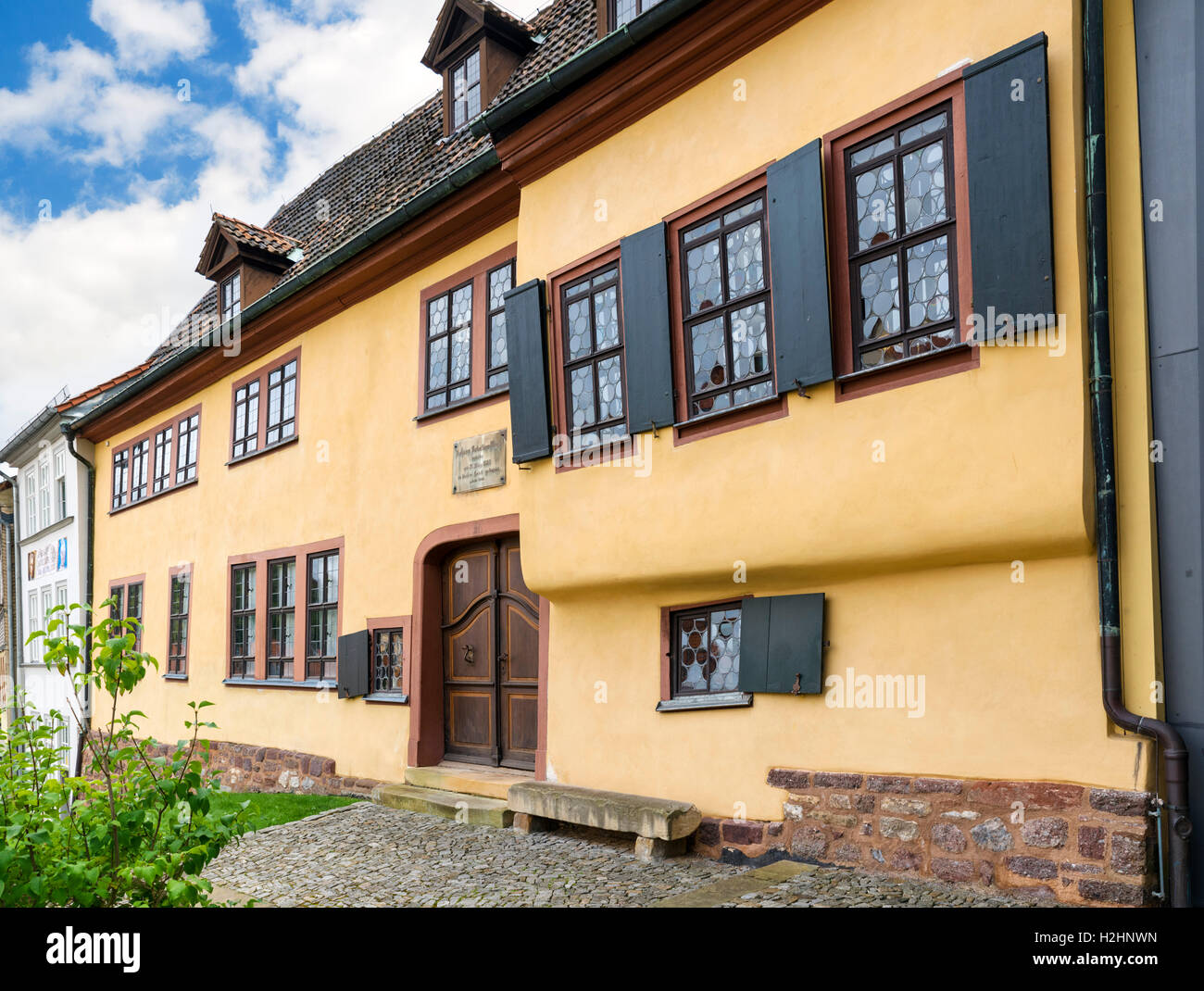 The Bach House in Eisenach, Thuringia, Germany - Stock Image