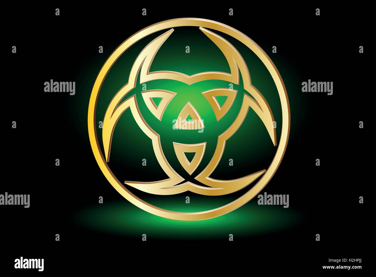 Three Crescent The Horn Of Odin Three Crescent Symbol Stock