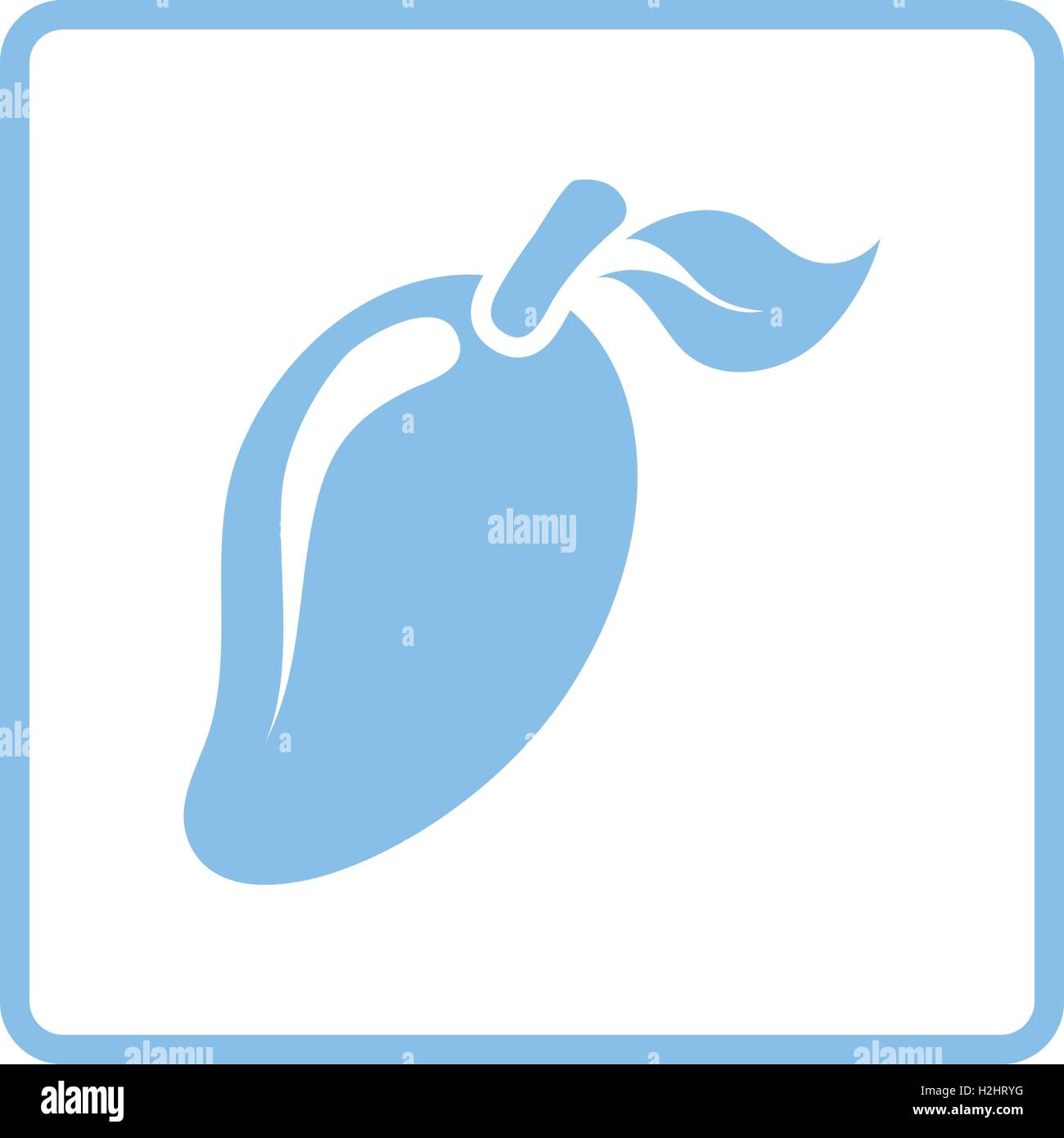 Mango icon. Blue frame design. Vector illustration Stock Vector Art ...