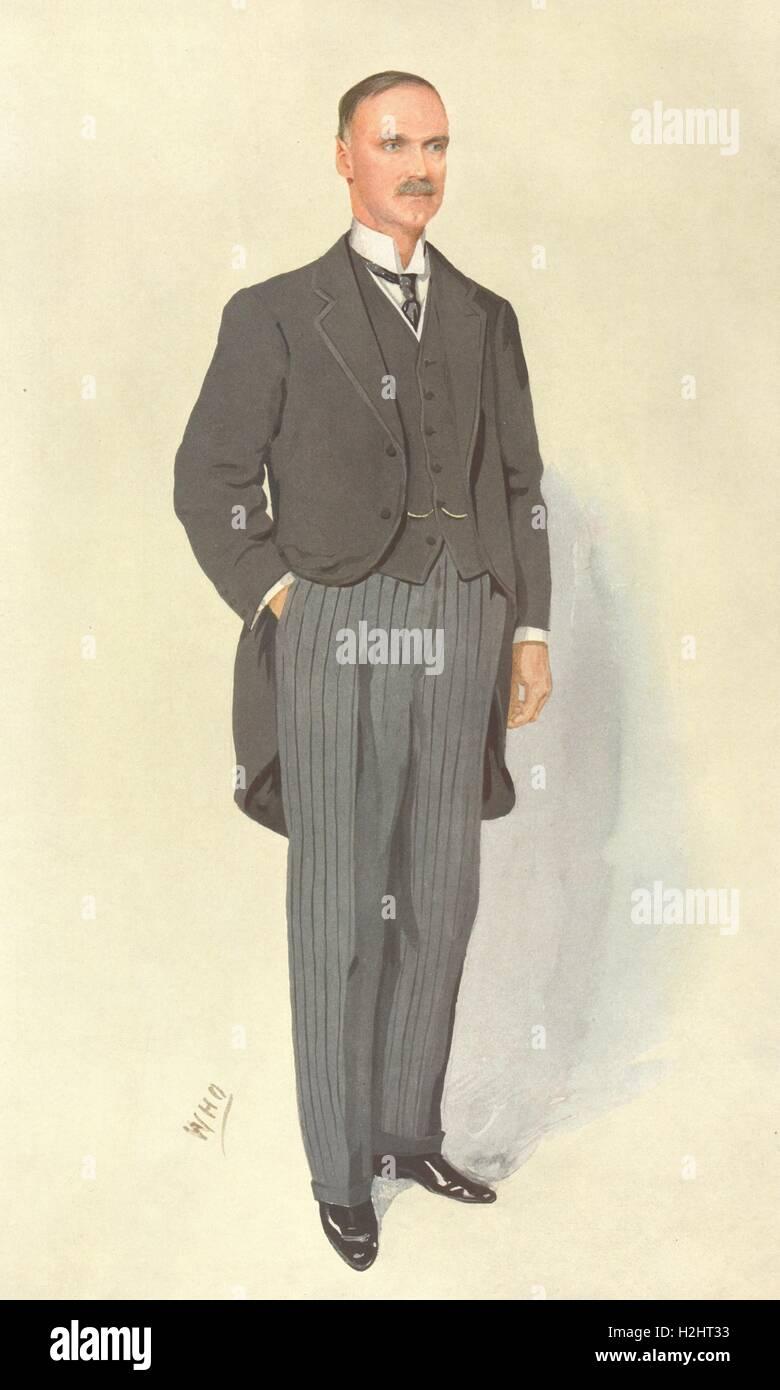 VANITY FAIR SPY CARTOON. Alfred Emmott 'The Deputy Speaker'. Lancashire. 1910 Stock Photo